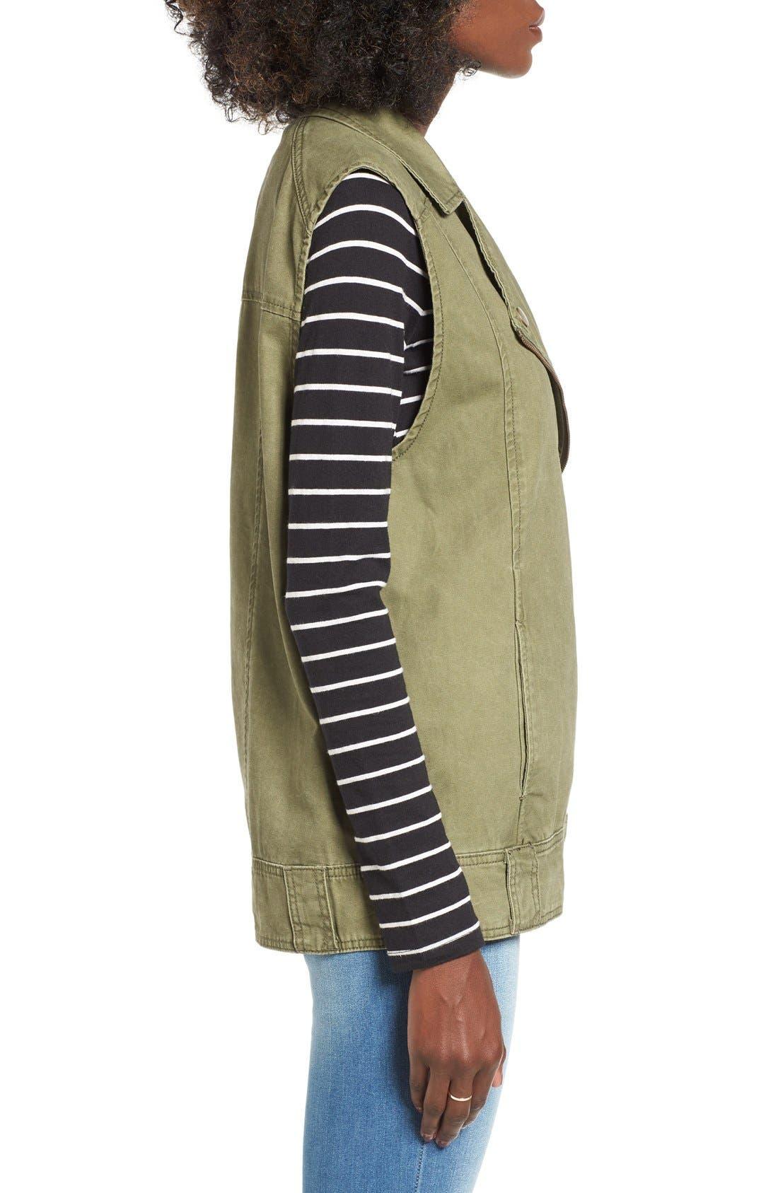 BP., Cotton Moto Vest, Alternate thumbnail 4, color, 312