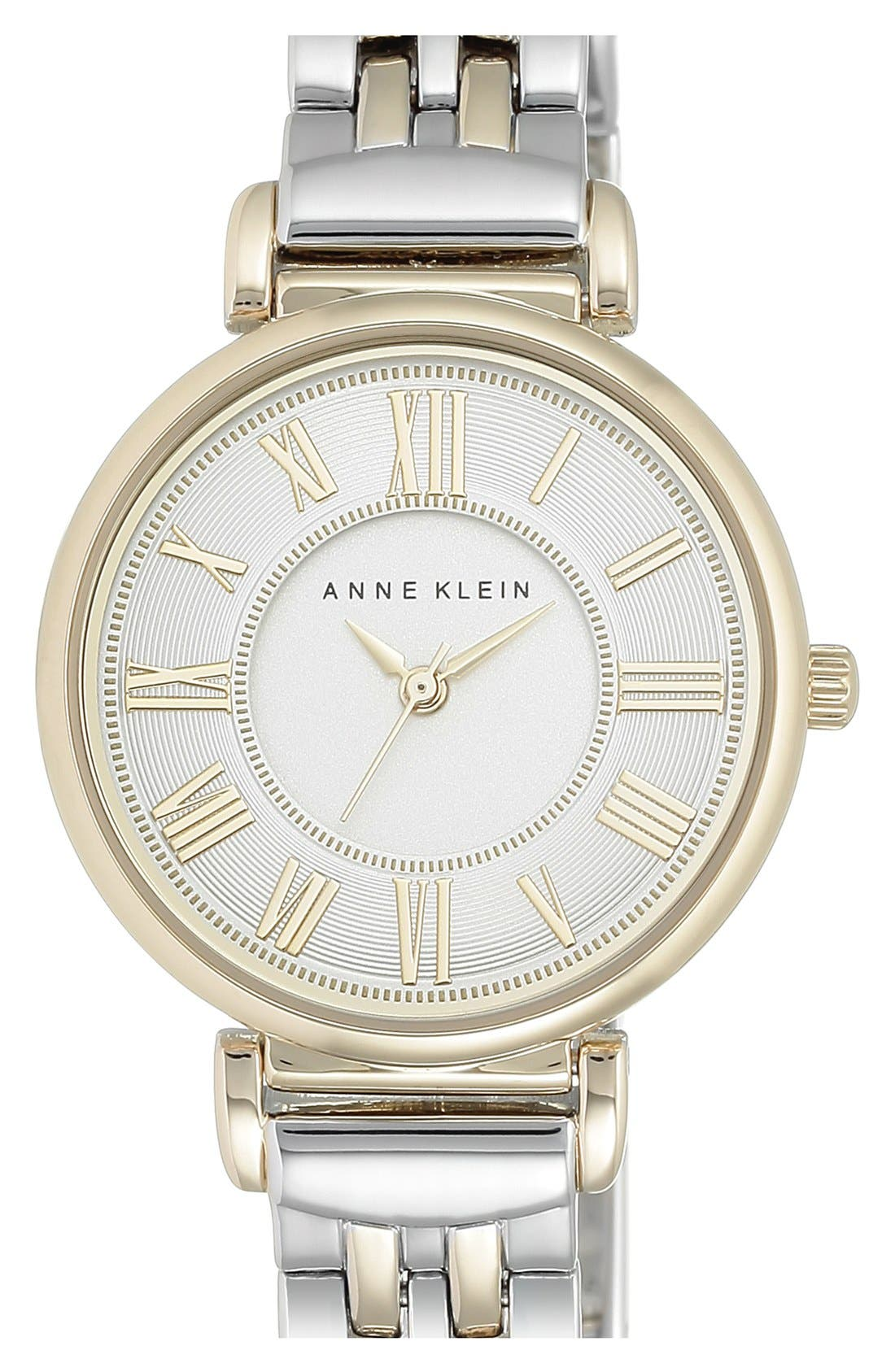 ANNE KLEIN, Round Bracelet Watch, 30mm, Main thumbnail 1, color, 040
