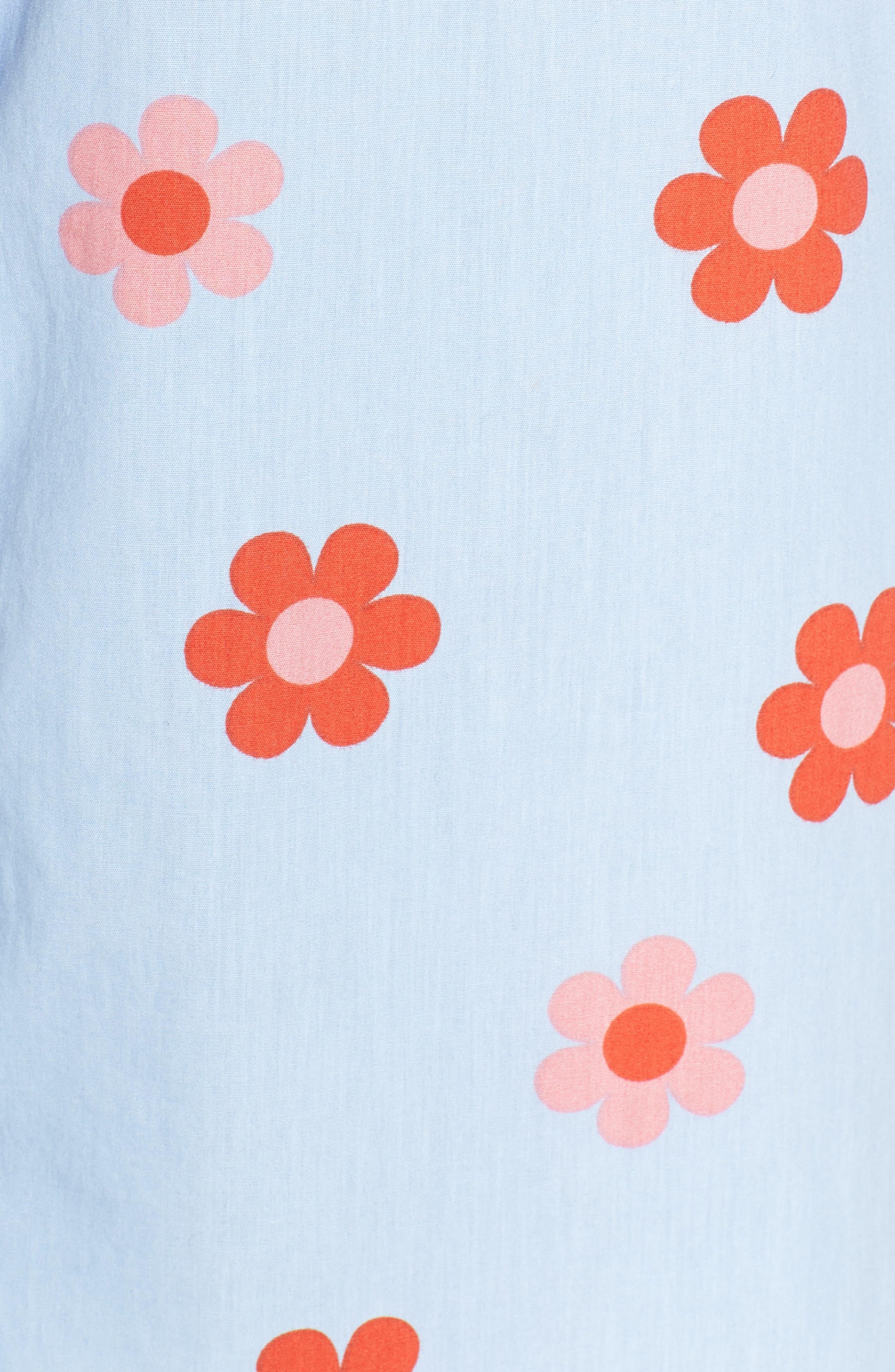 BAN.DO, Retro Daisy Sleep Shirt, Alternate thumbnail 5, color, LIGHT BLUE
