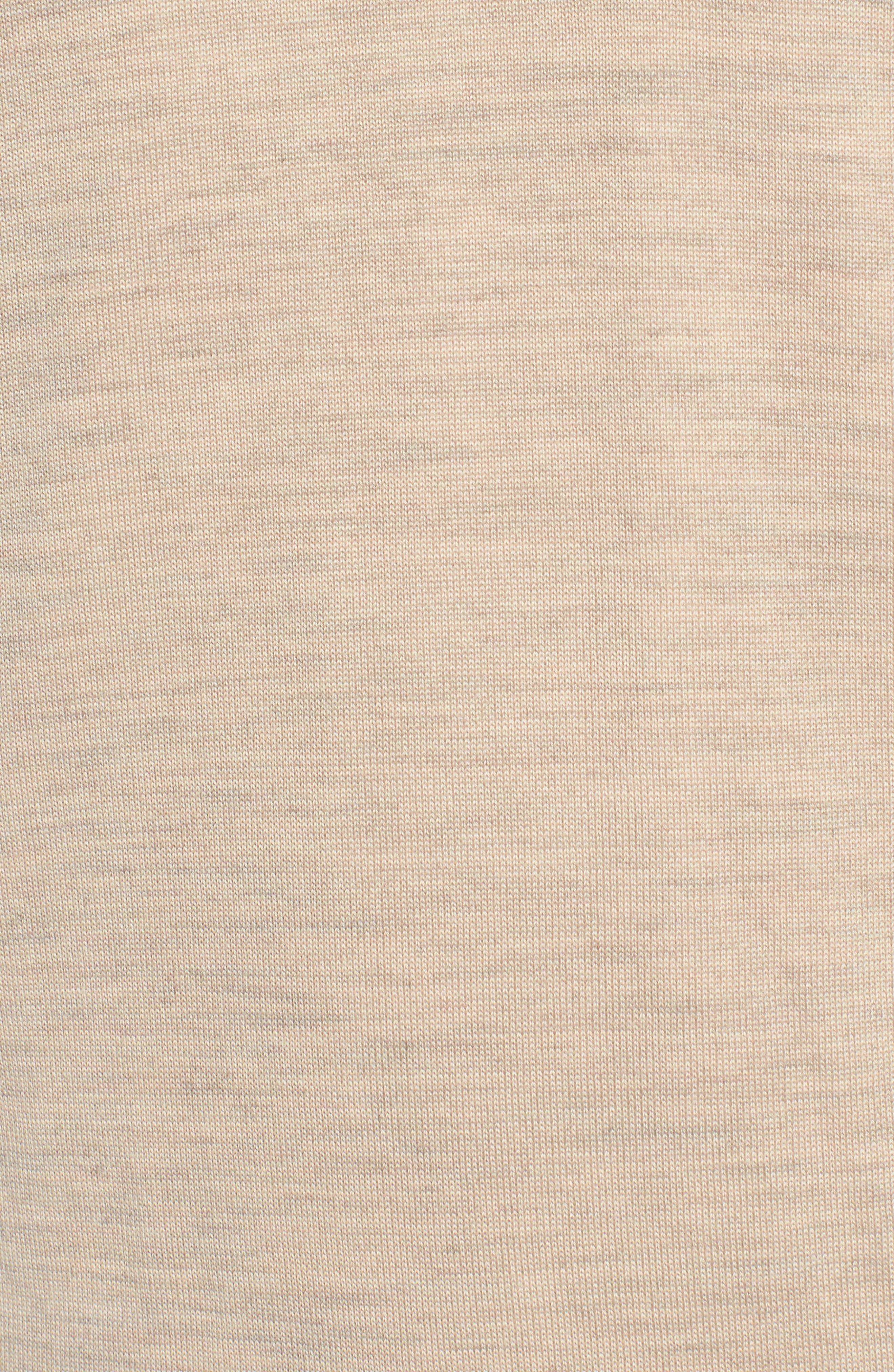 CUTTER & BUCK, 'Douglas' Merino Wool Blend V-Neck Sweater Vest, Alternate thumbnail 5, color, SAND HEATHER