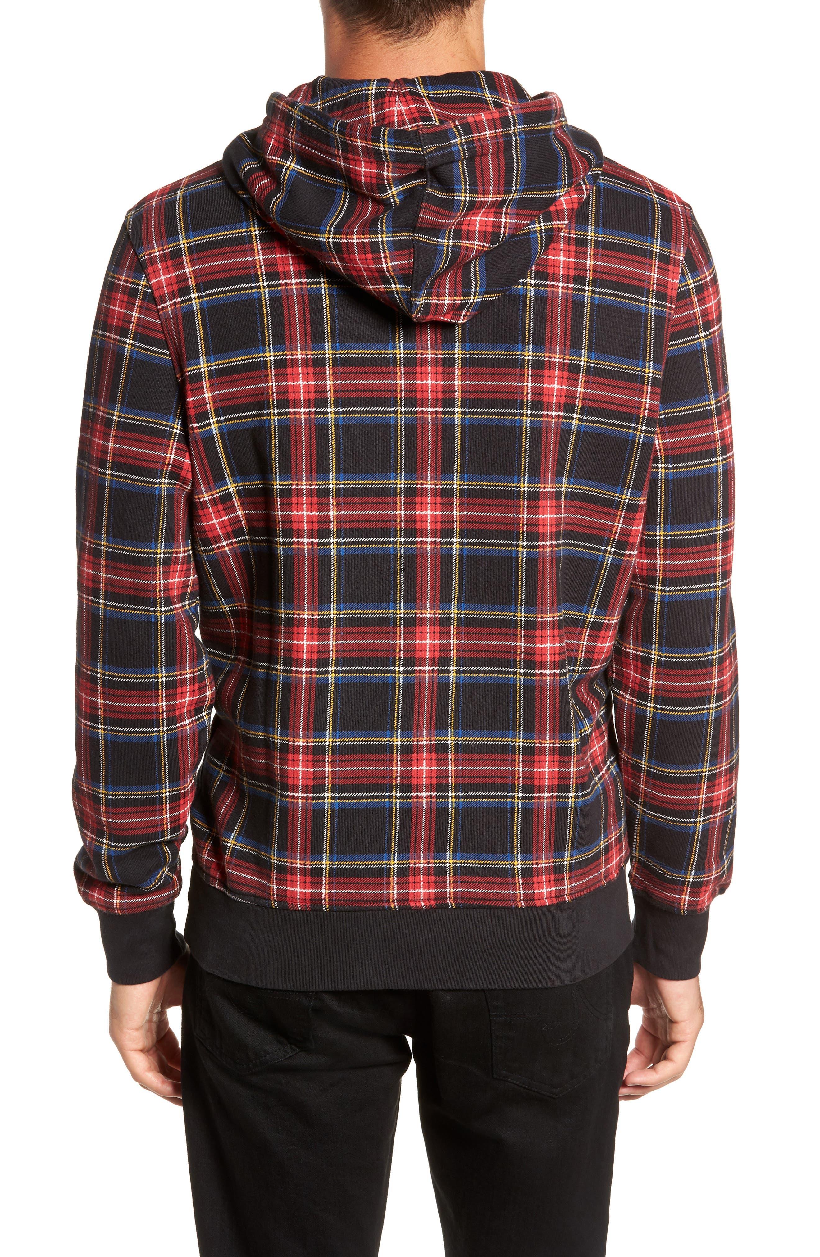 LEVI'S<SUP>®</SUP>, Modern Hoodie Sweatshirt, Alternate thumbnail 2, color, PLAID