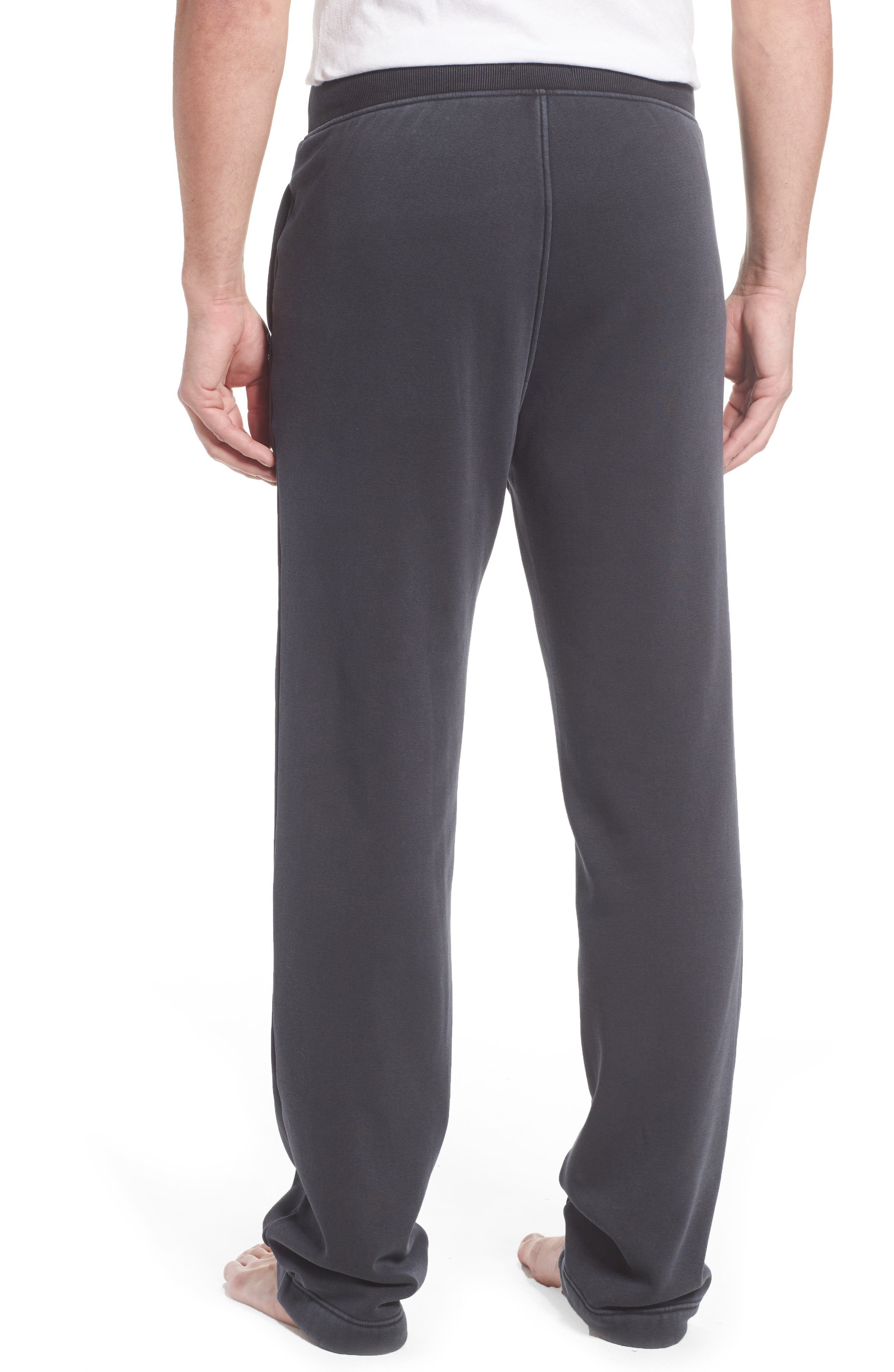 UGG<SUP>®</SUP>, Wyatt Stretch Cotton Lounge Pants, Alternate thumbnail 2, color, CHARCOAL