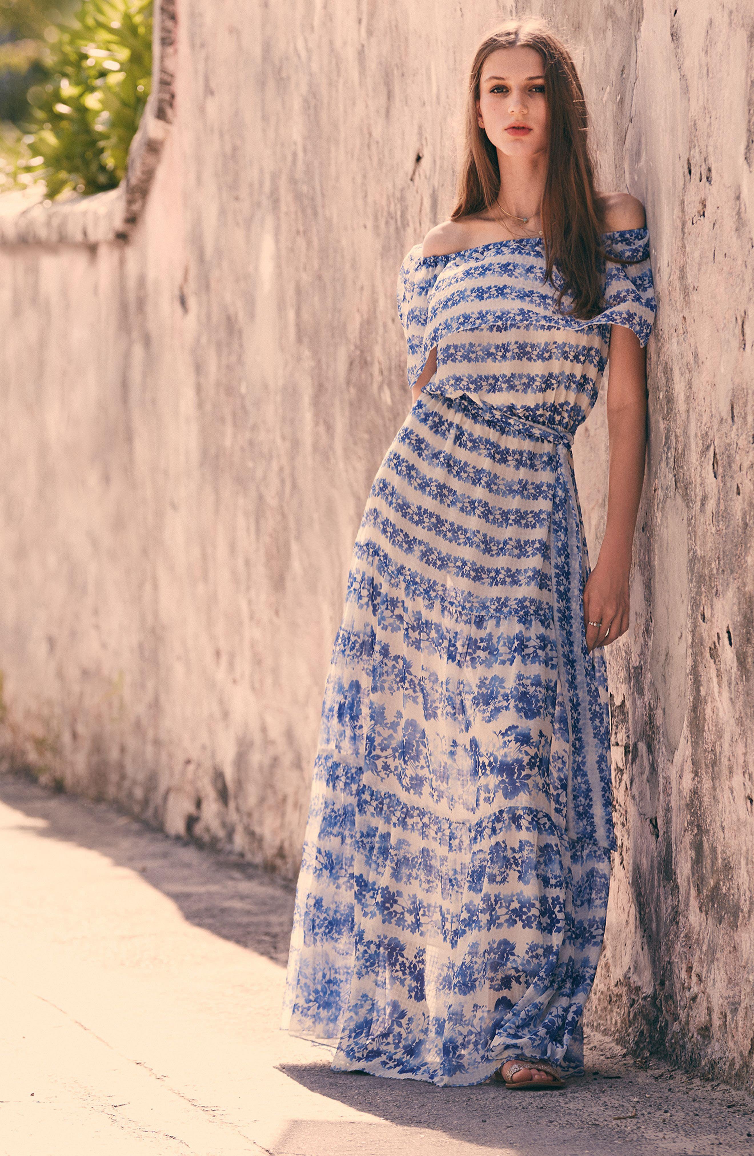 ELIZA J, Blouson Maxi Dress, Alternate thumbnail 8, color, 442