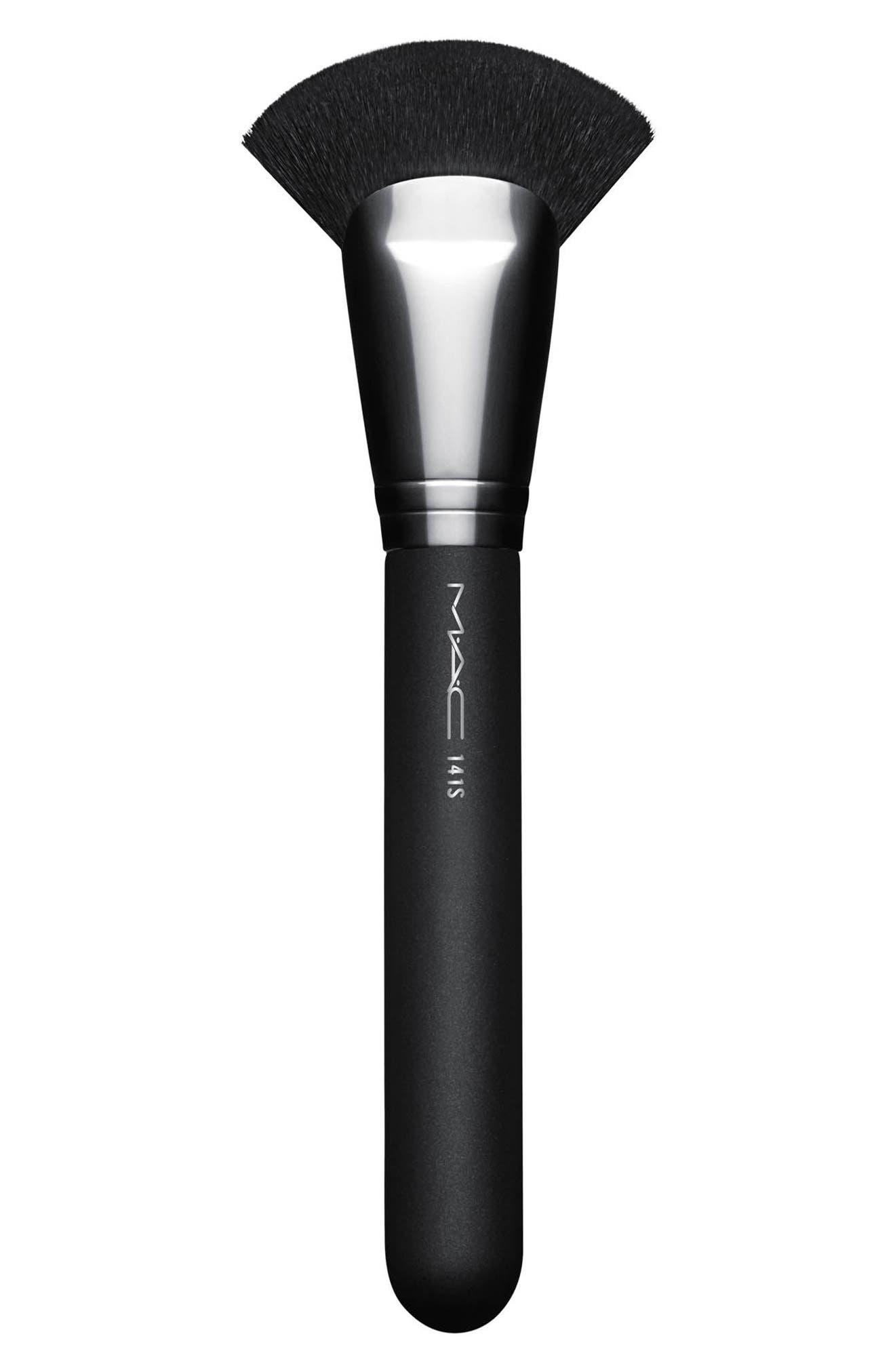MAC COSMETICS, MAC 141 Synthetic Face Fan Brush, Main thumbnail 1, color, NO COLOR