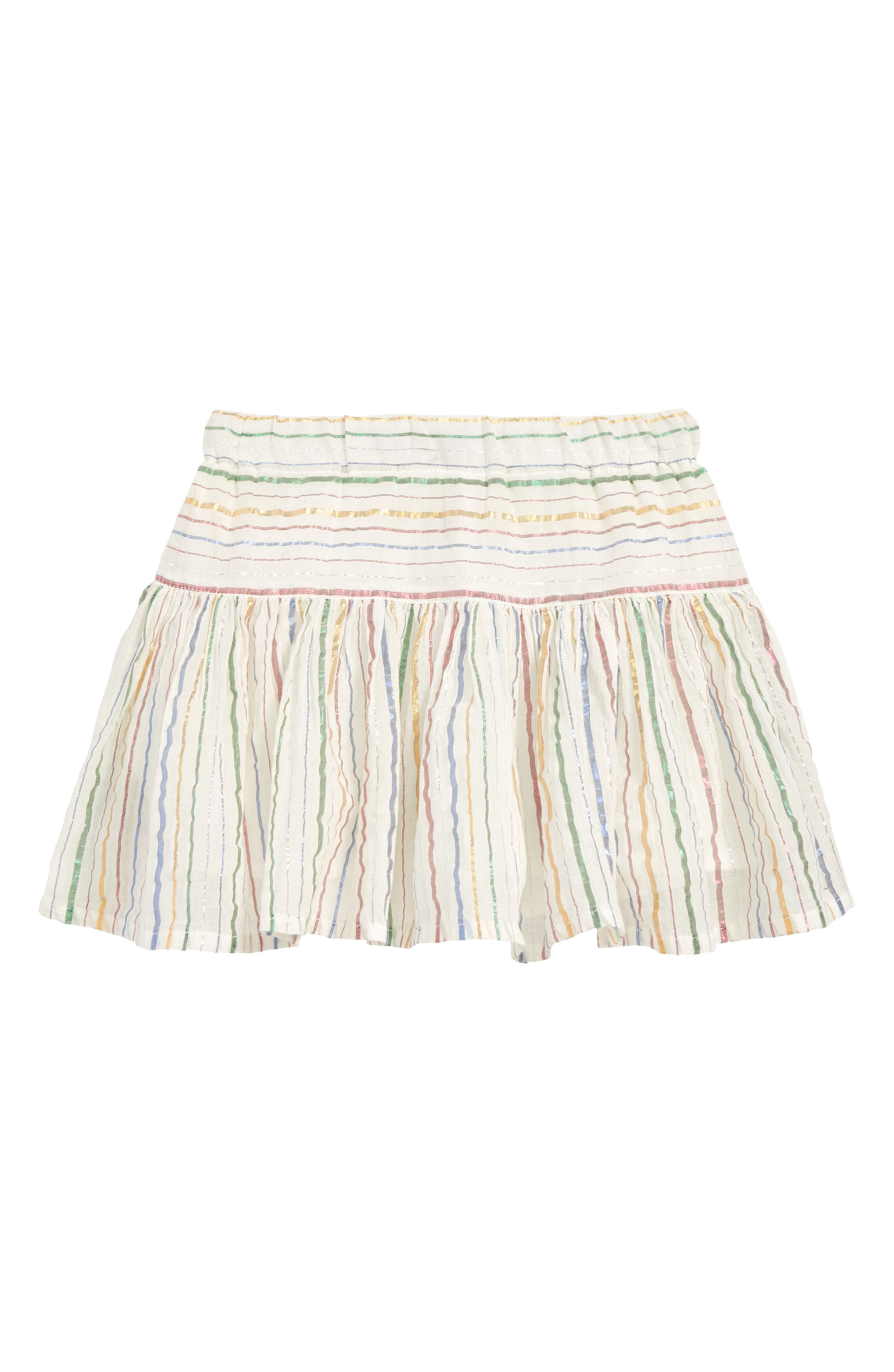 PEEK AREN'T YOU CURIOUS, Nora Stripe Skirt, Main thumbnail 1, color, IVORY
