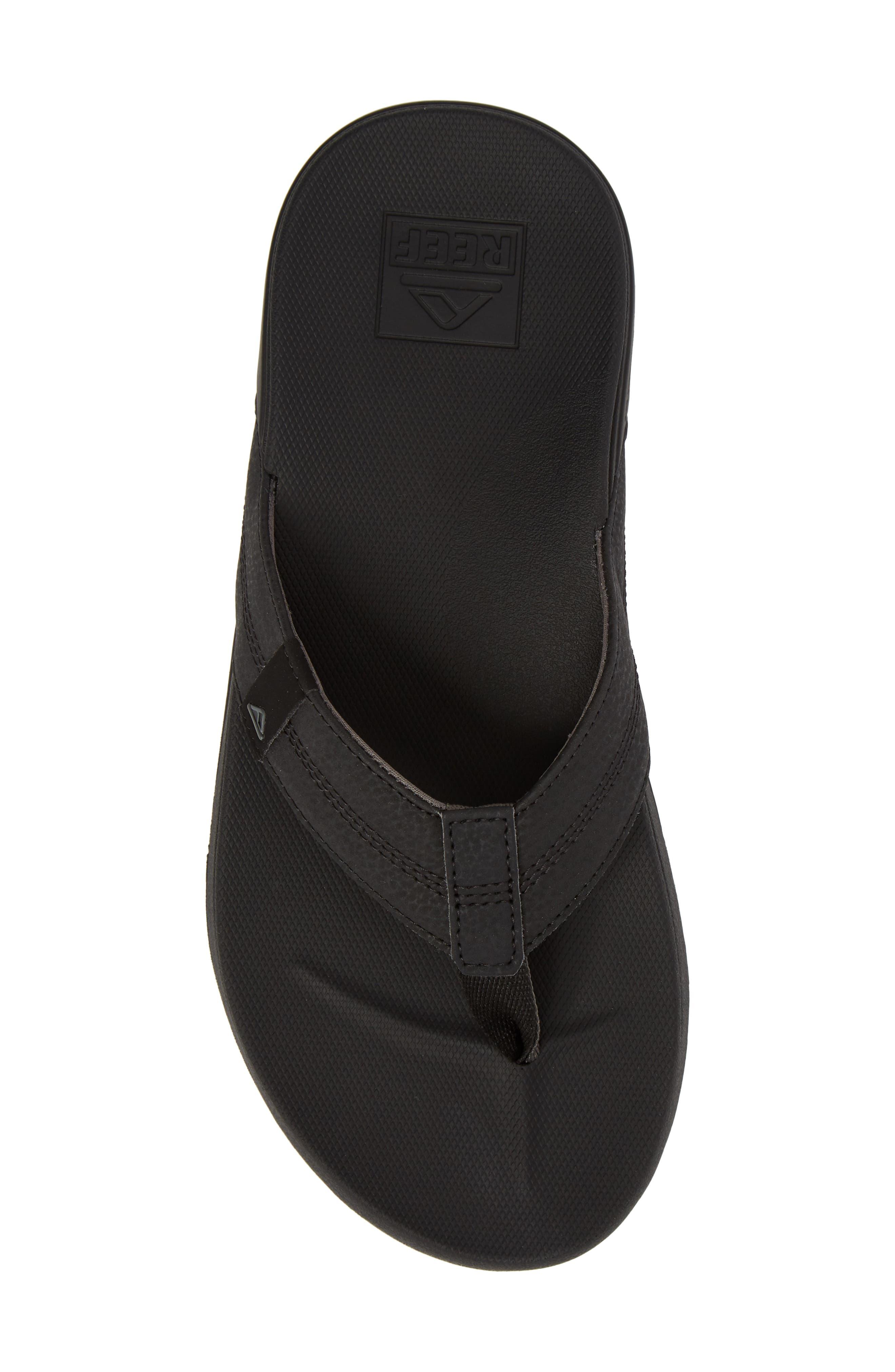 REEF, Cushion Bounce Phantom Flip Flop, Alternate thumbnail 5, color, BLACK