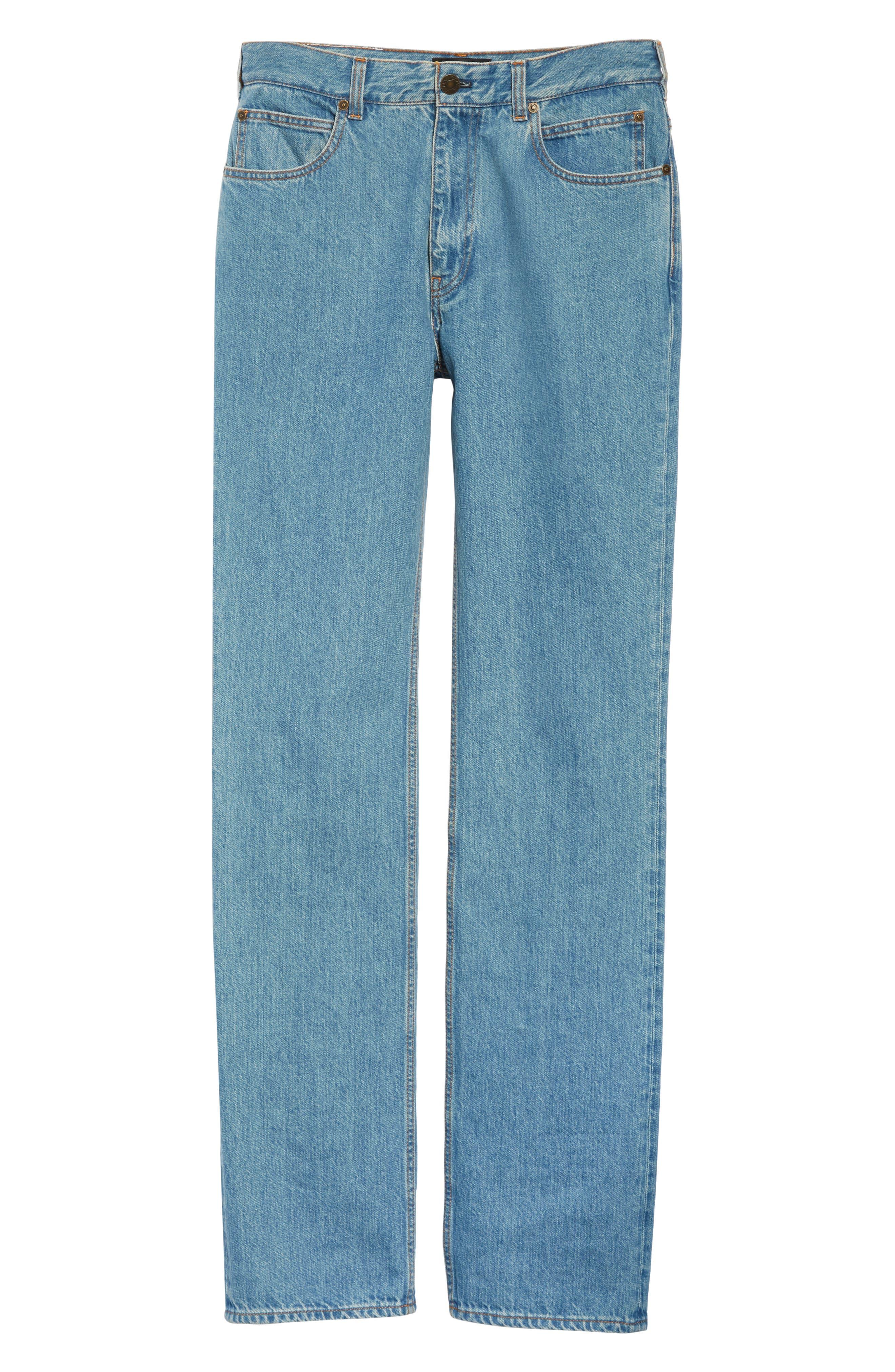 CALVIN KLEIN 205W39NYC, Jeans, Alternate thumbnail 6, color, BLUE