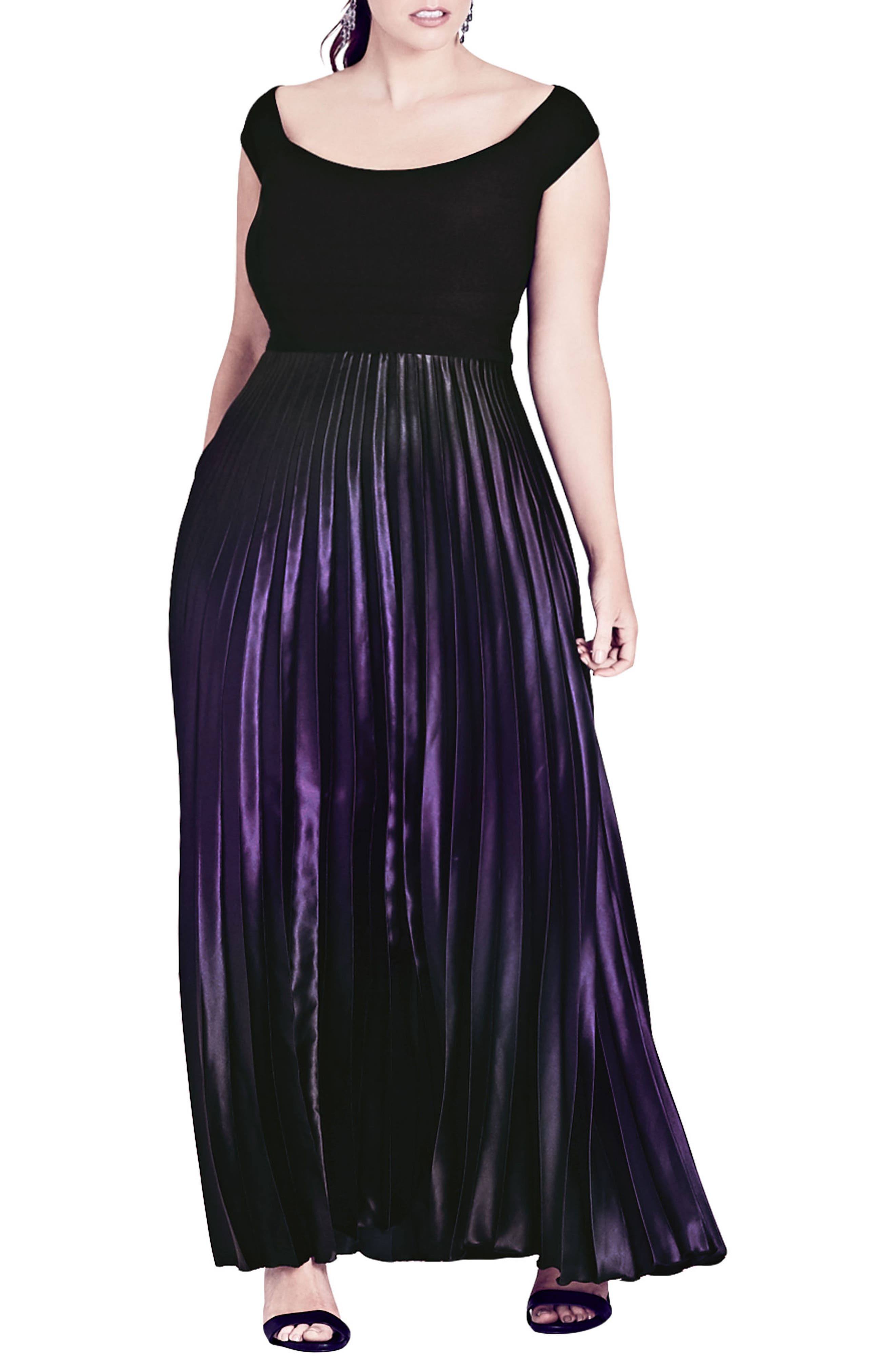 Plus Size City Chic Passion Ombre Gown, Purple