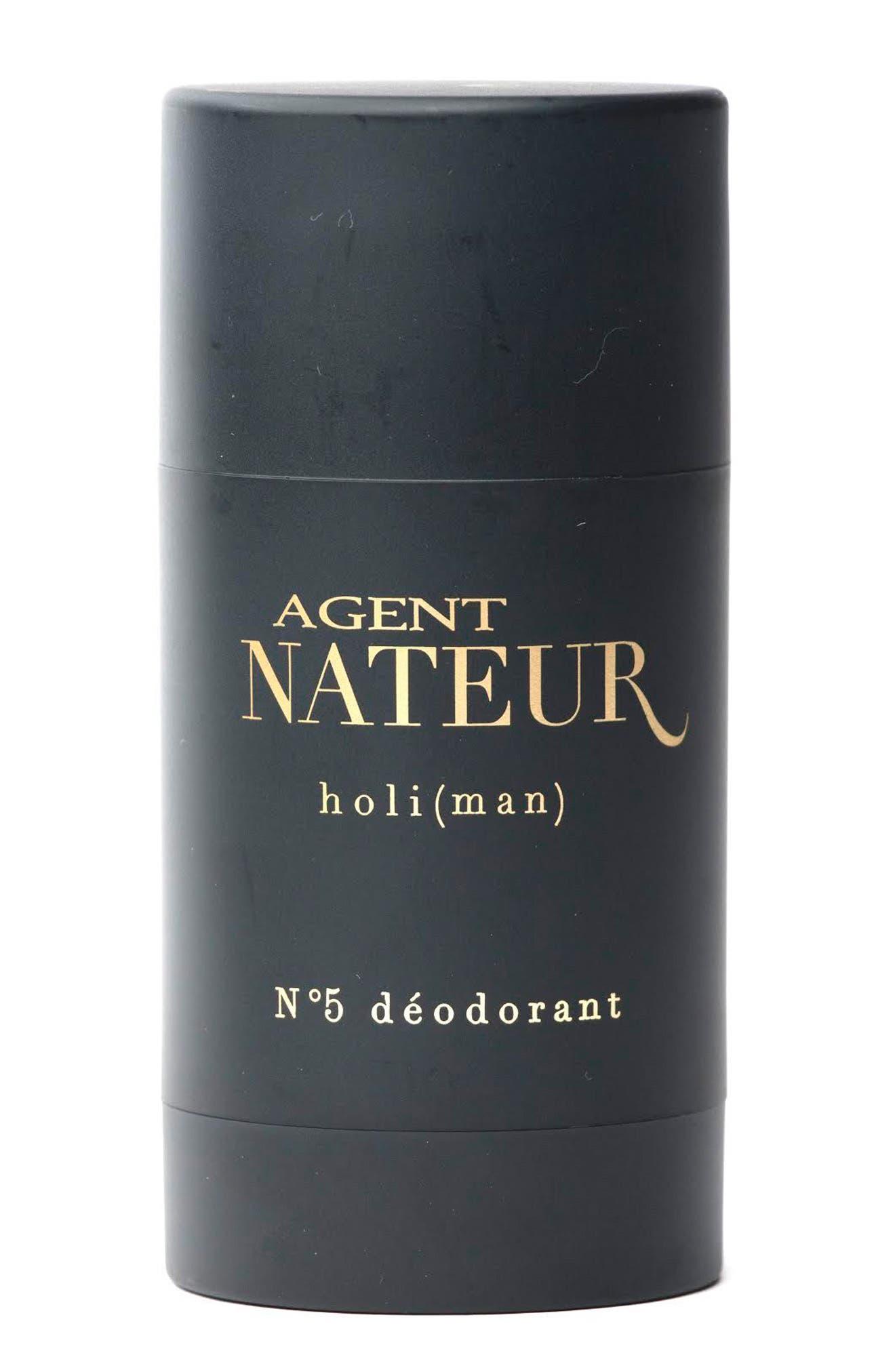 AGENT NATEUR, Holi Man No. 5 Natural Deodorant, Main thumbnail 1, color, BLACK