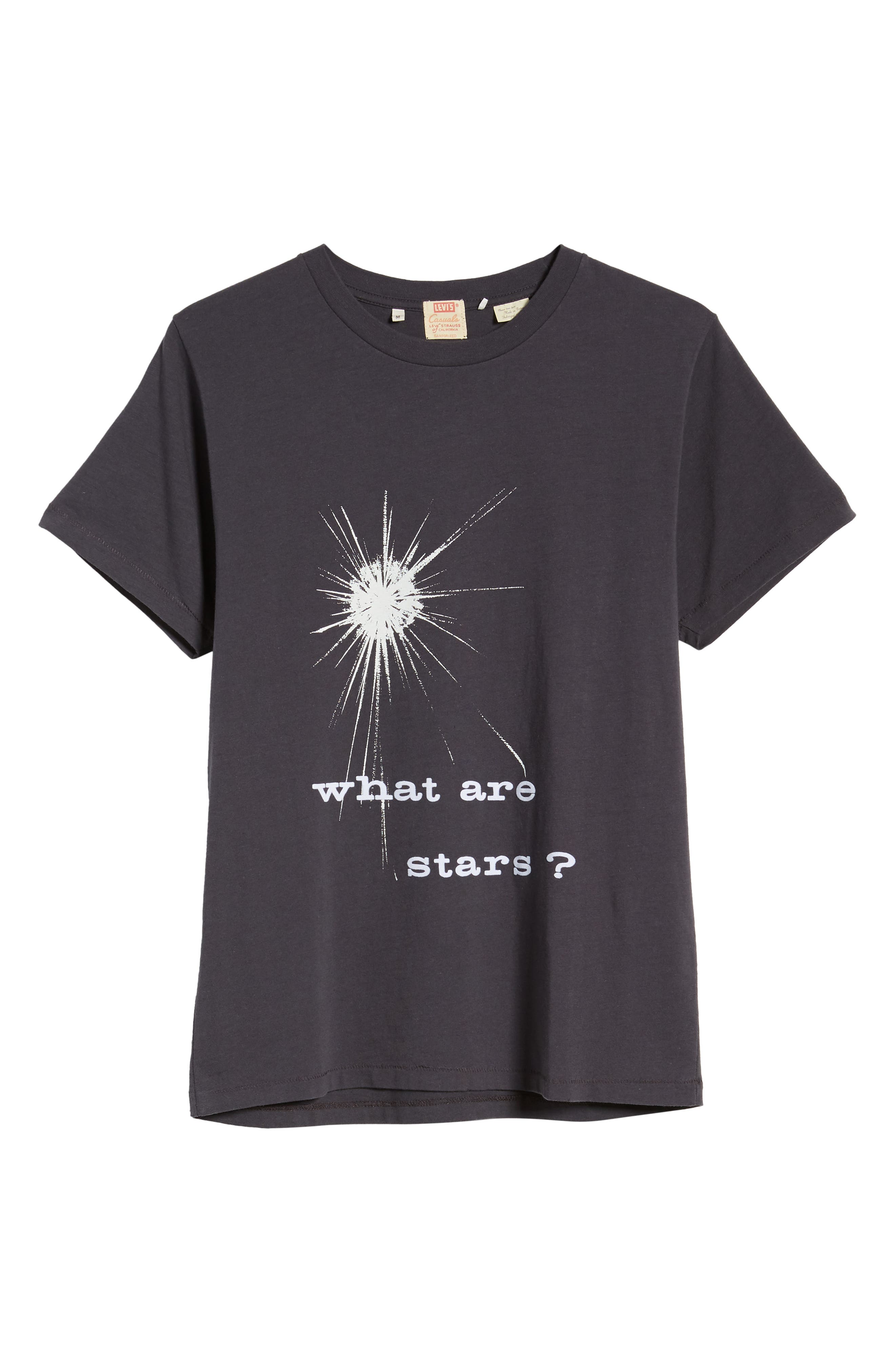 LEVI'S<SUP>®</SUP> VINTAGE CLOTHING, What Are Stars T-Shirt, Alternate thumbnail 6, color, WHAT ARE STARS BLACK