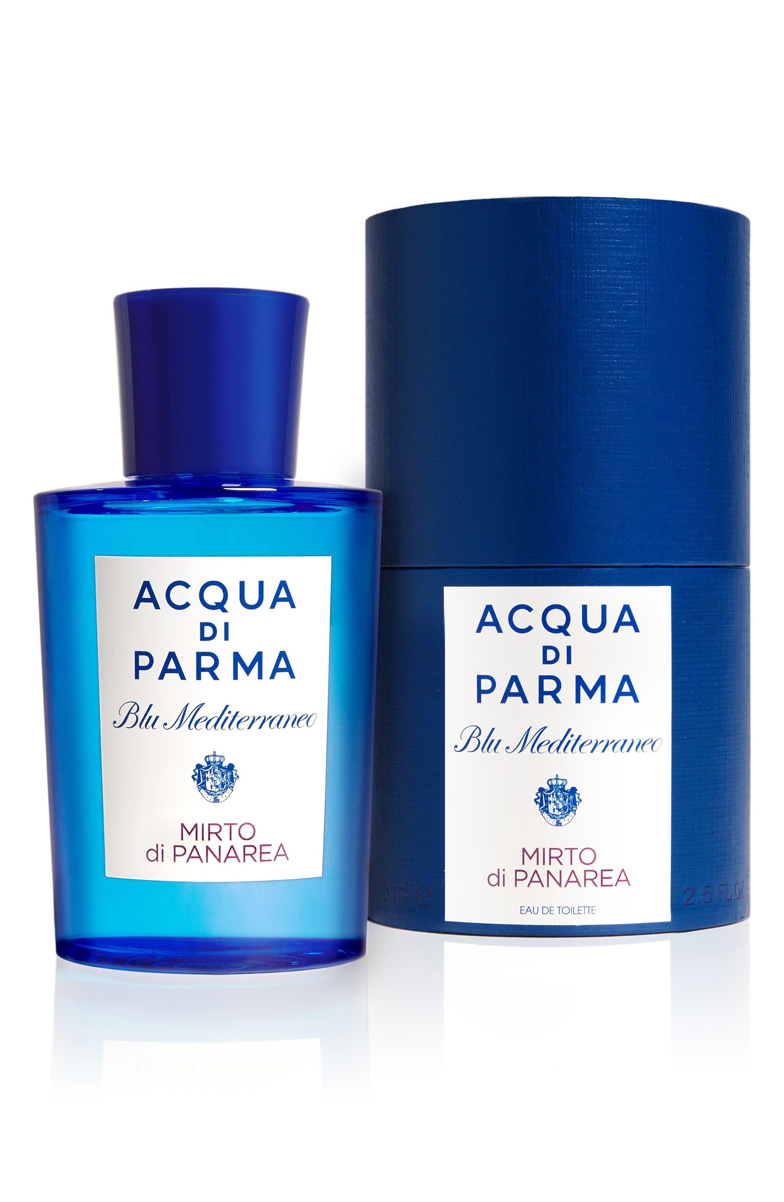 ACQUA DI PARMA, 'Blu Mediterraneo' Mirto di Panarea Eau de Toilette Spray, Alternate thumbnail 2, color, NO COLOR
