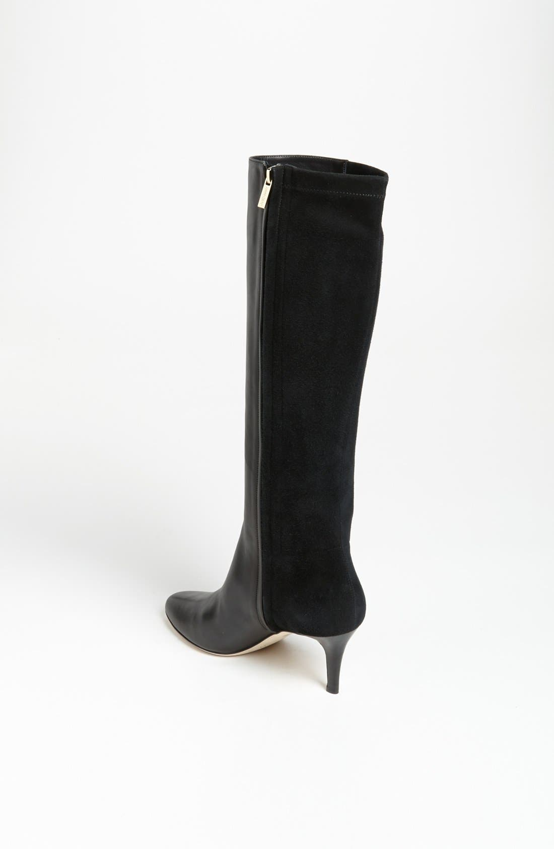 JIMMY CHOO, 'Aiden' Boot, Alternate thumbnail 2, color, 001
