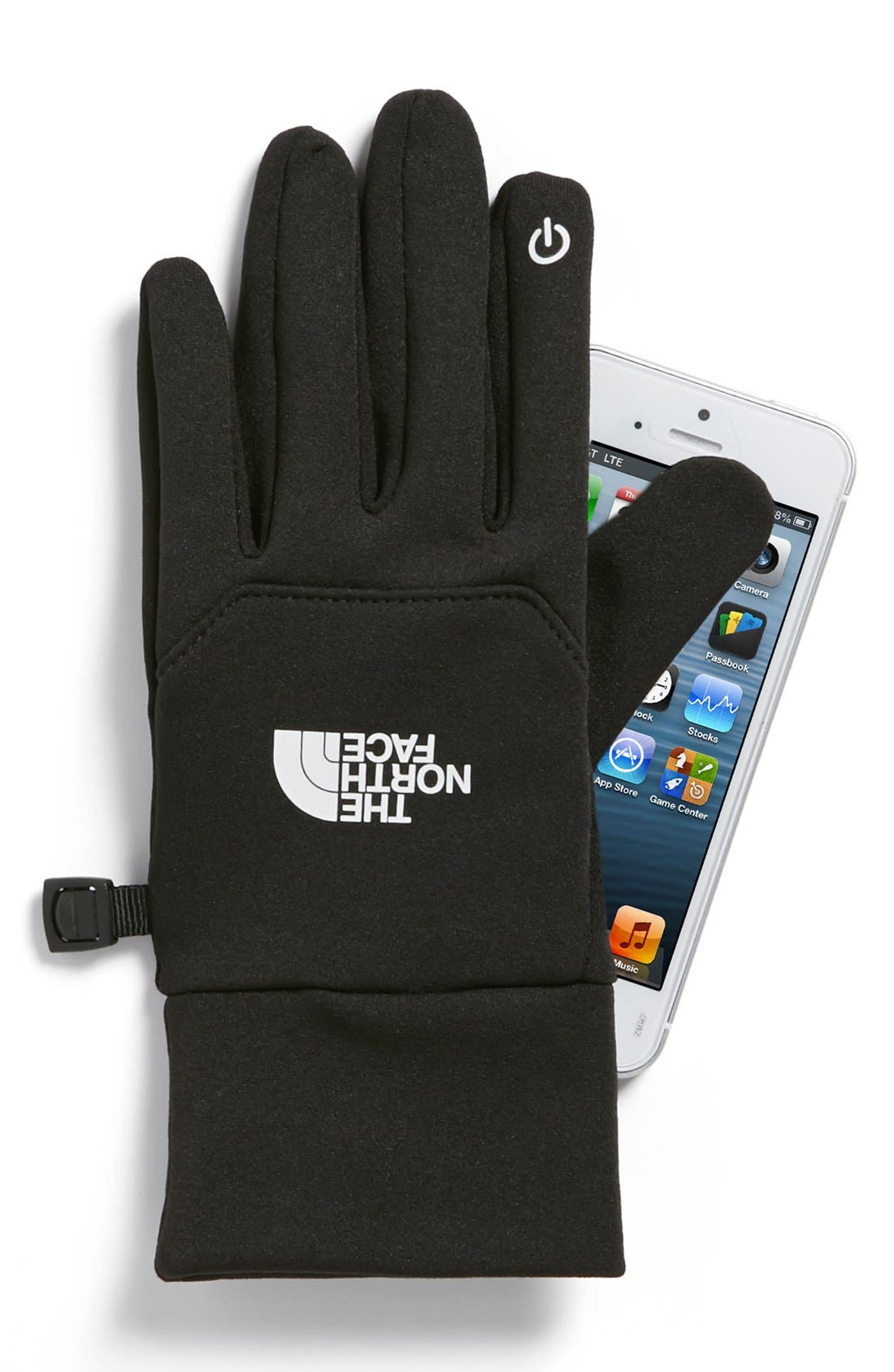 THE NORTH FACE, 'E-Tip' Glove, Alternate thumbnail 2, color, 001