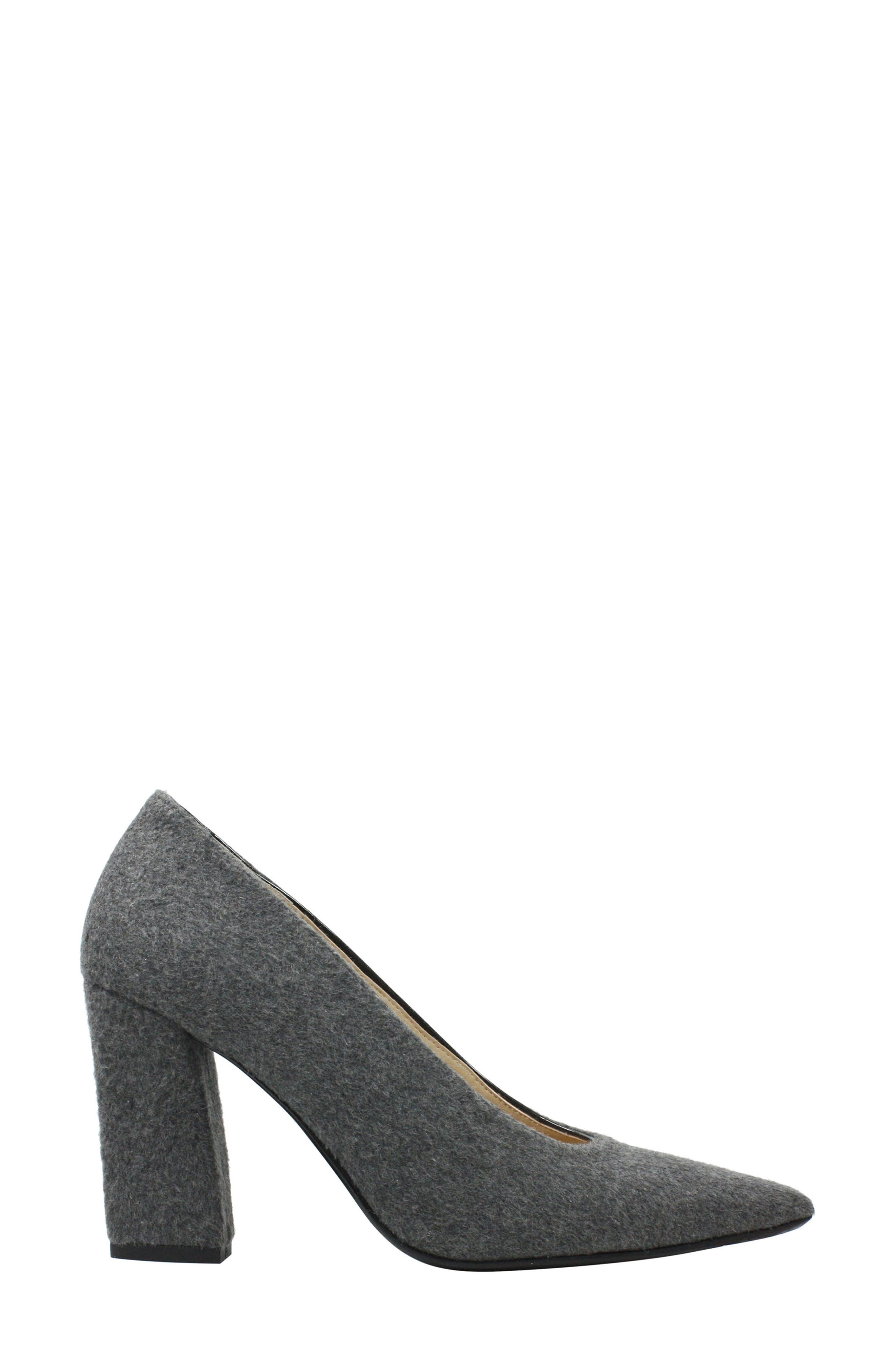 J. RENEÉ, Madisson Pointy Toe Pump, Alternate thumbnail 3, color, GREY FABRIC