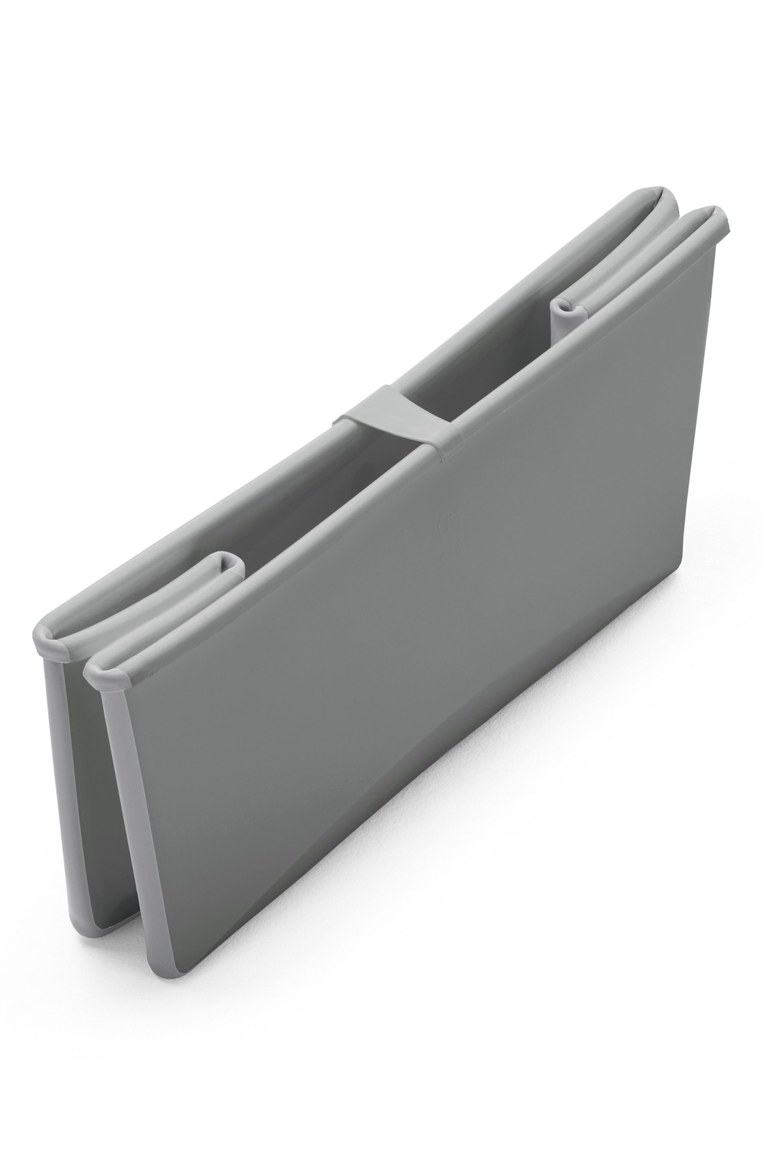 STOKKE, 'Flexi Bath<sup>®</sup>' Foldable Baby Bathtub, Alternate thumbnail 3, color, LIGHT GREY