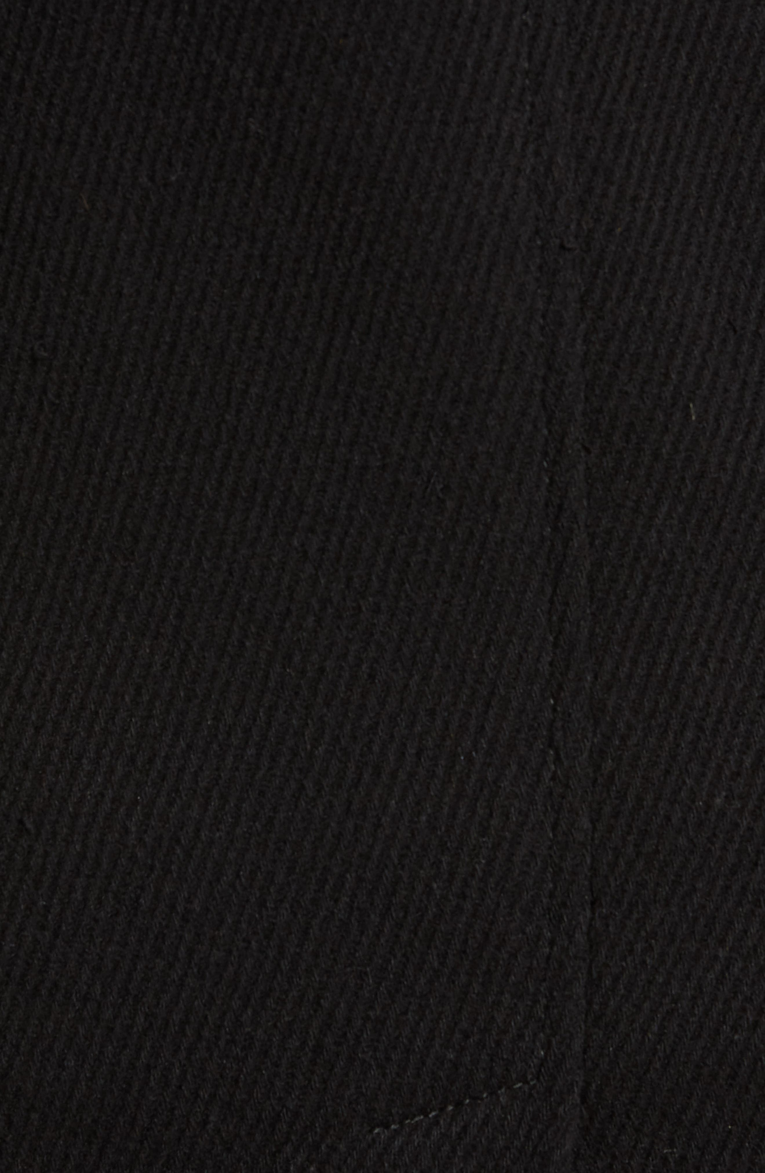 MARC NEW YORK, Edmund Wool Blend Twill Car Coat, Alternate thumbnail 6, color, BLACK