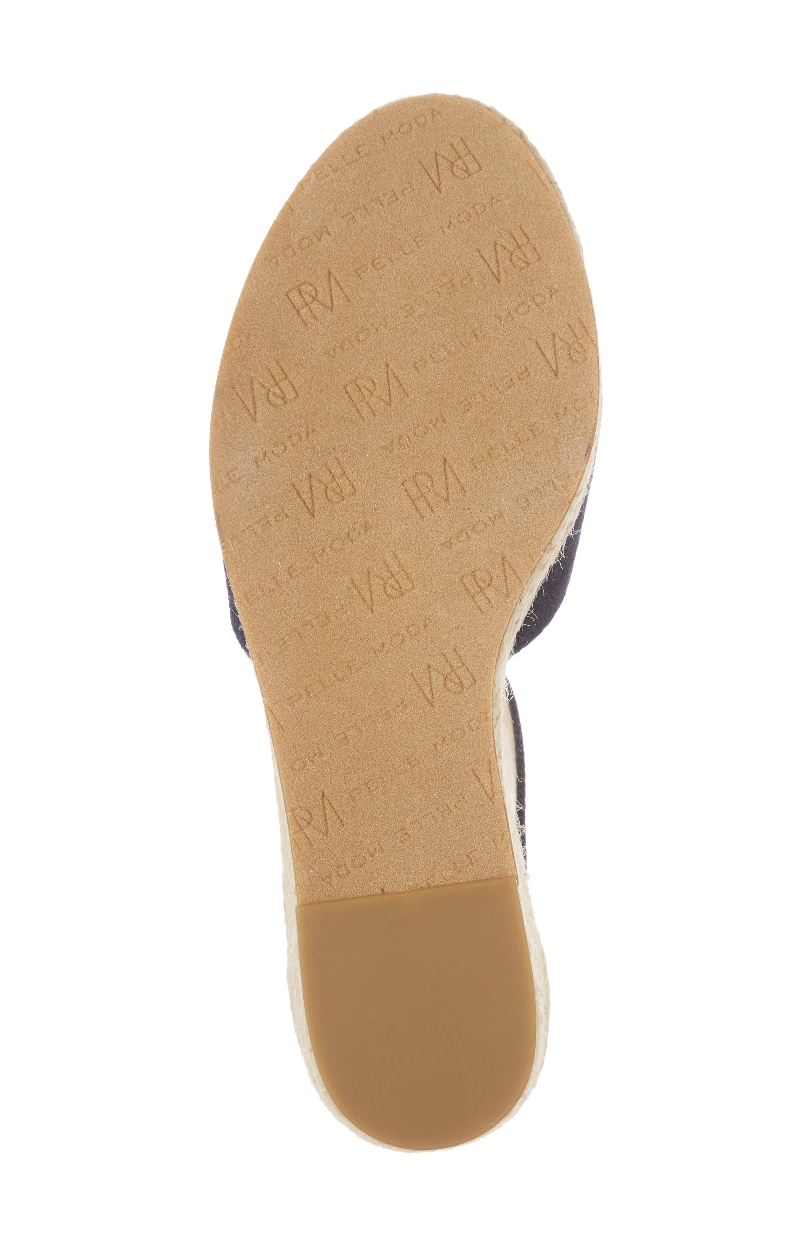 PELLE MODA, Kauai Platform Wedge Sandal, Alternate thumbnail 6, color, INDIGO