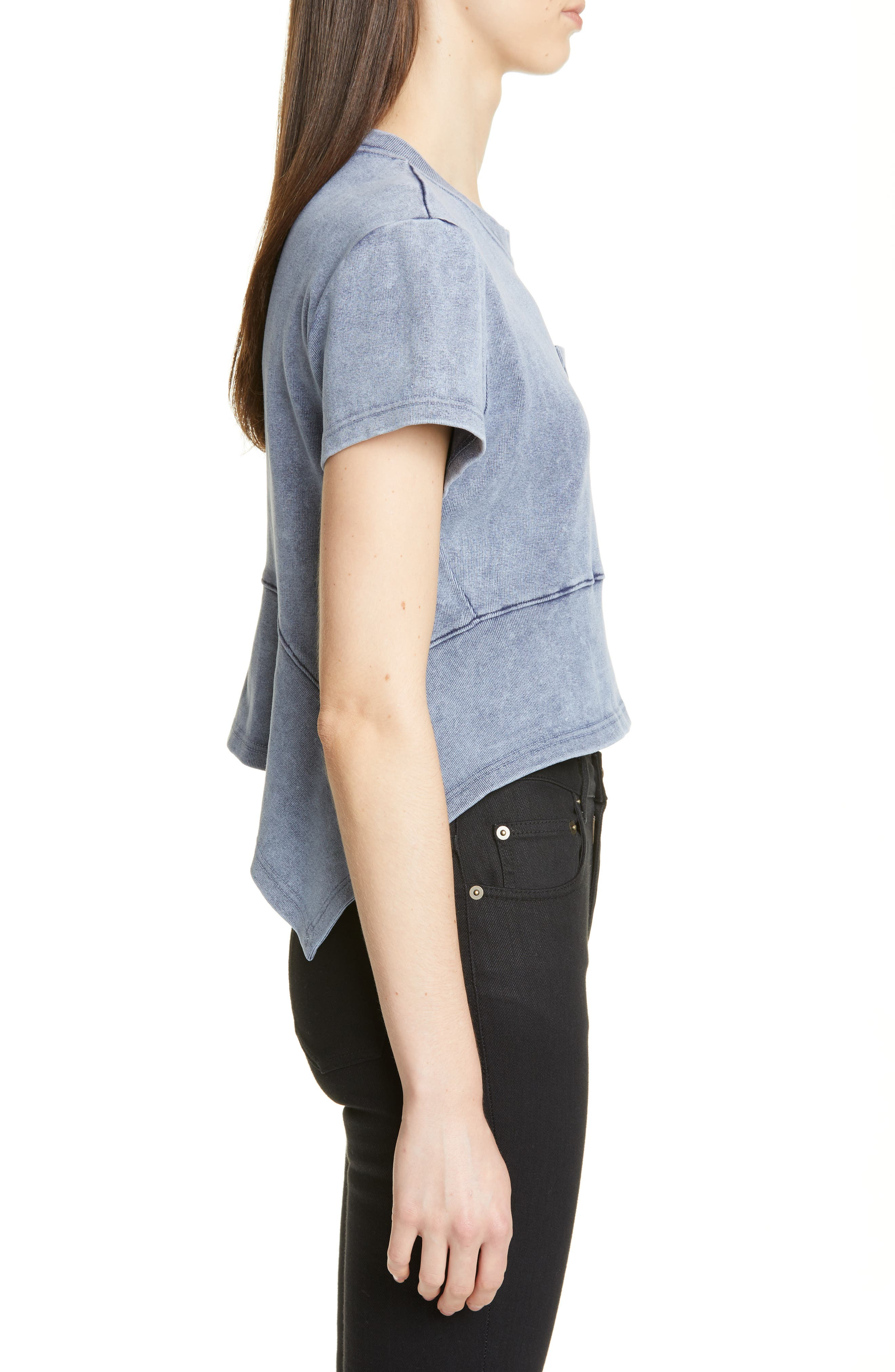 PROENZA SCHOULER, Washed Jersey Top, Alternate thumbnail 3, color, WASHED ACID