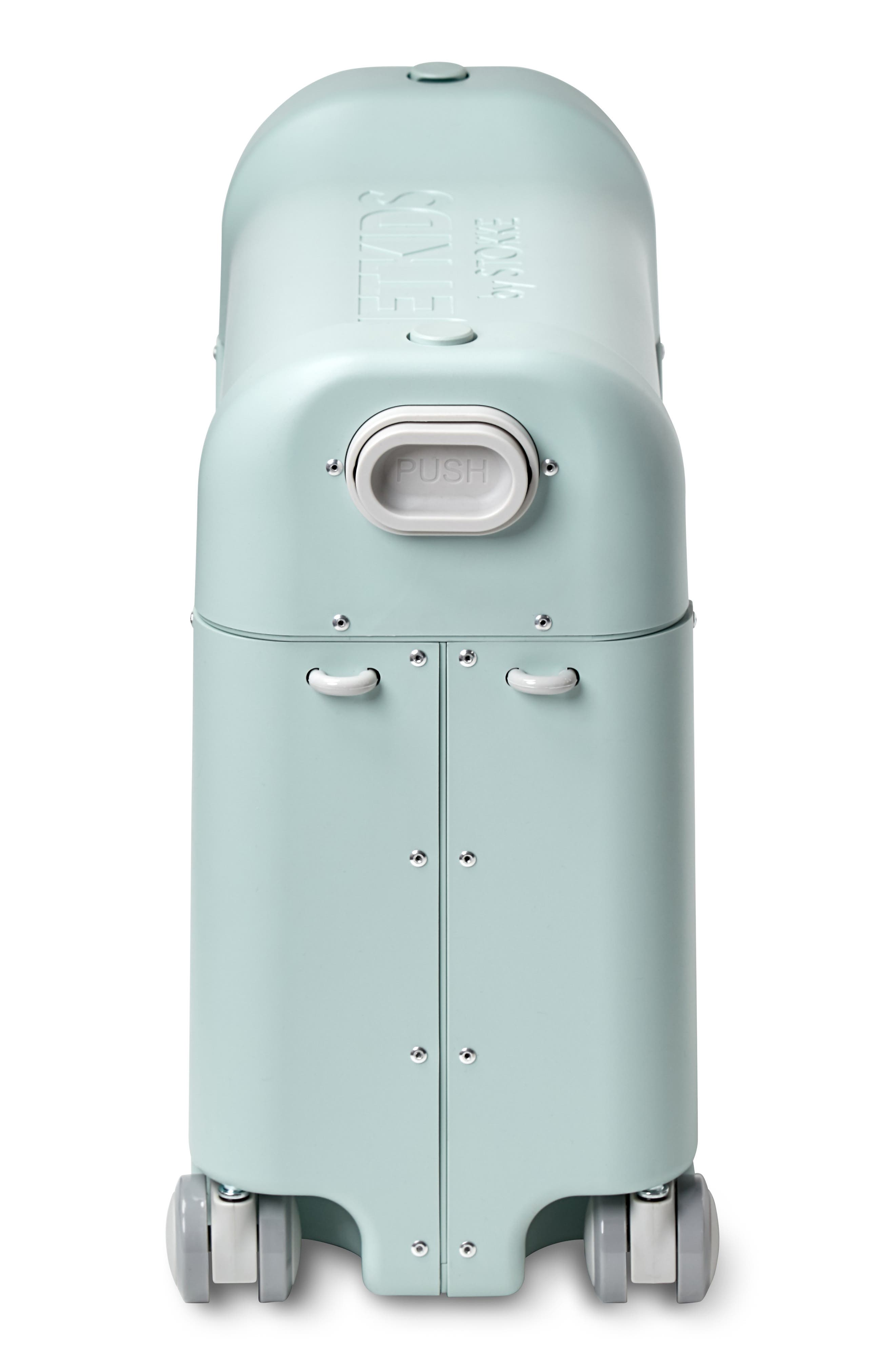 STOKKE, Jetkids by Stokke Bedbox<sup>®</sup> Ride-On Carry-On Suitcase, Alternate thumbnail 5, color, GREEN