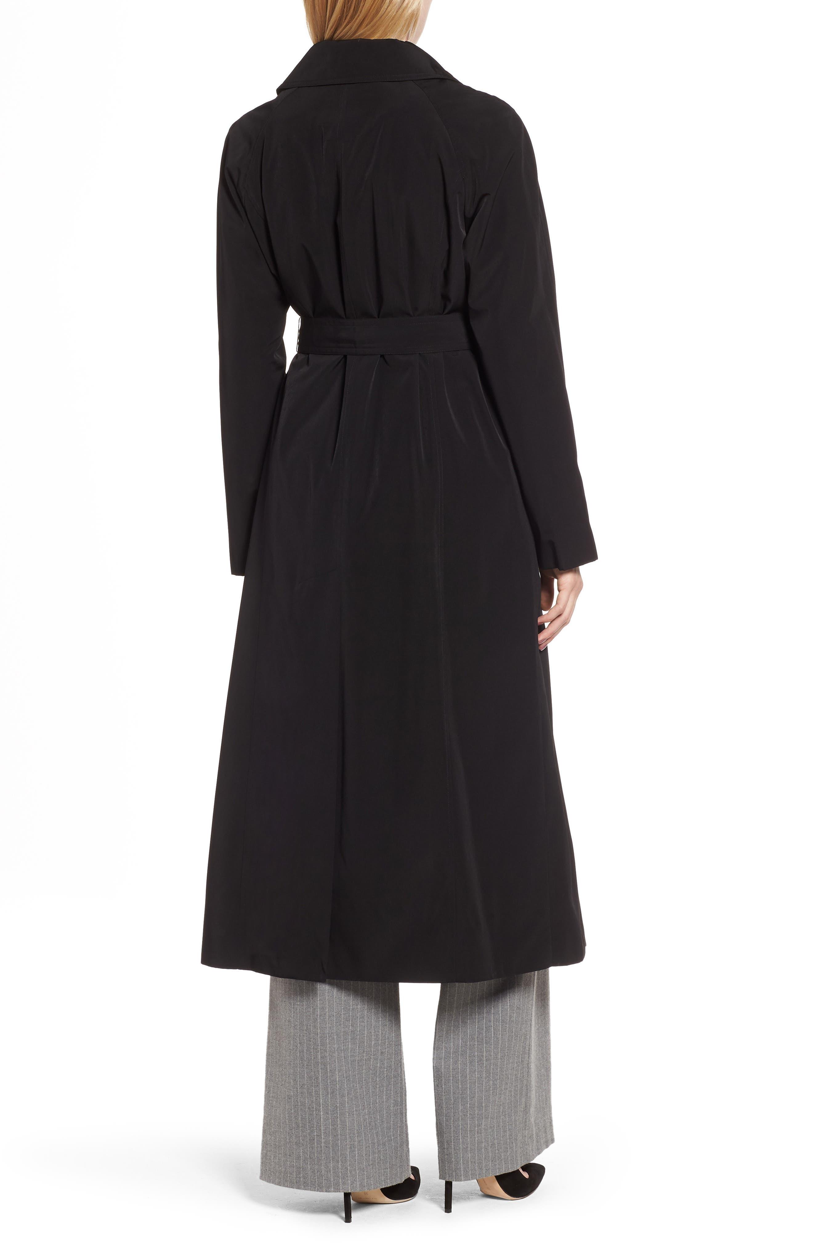 LONDON FOG, Long Trench Coat with Detachable Hood & Liner, Alternate thumbnail 2, color, BLACK