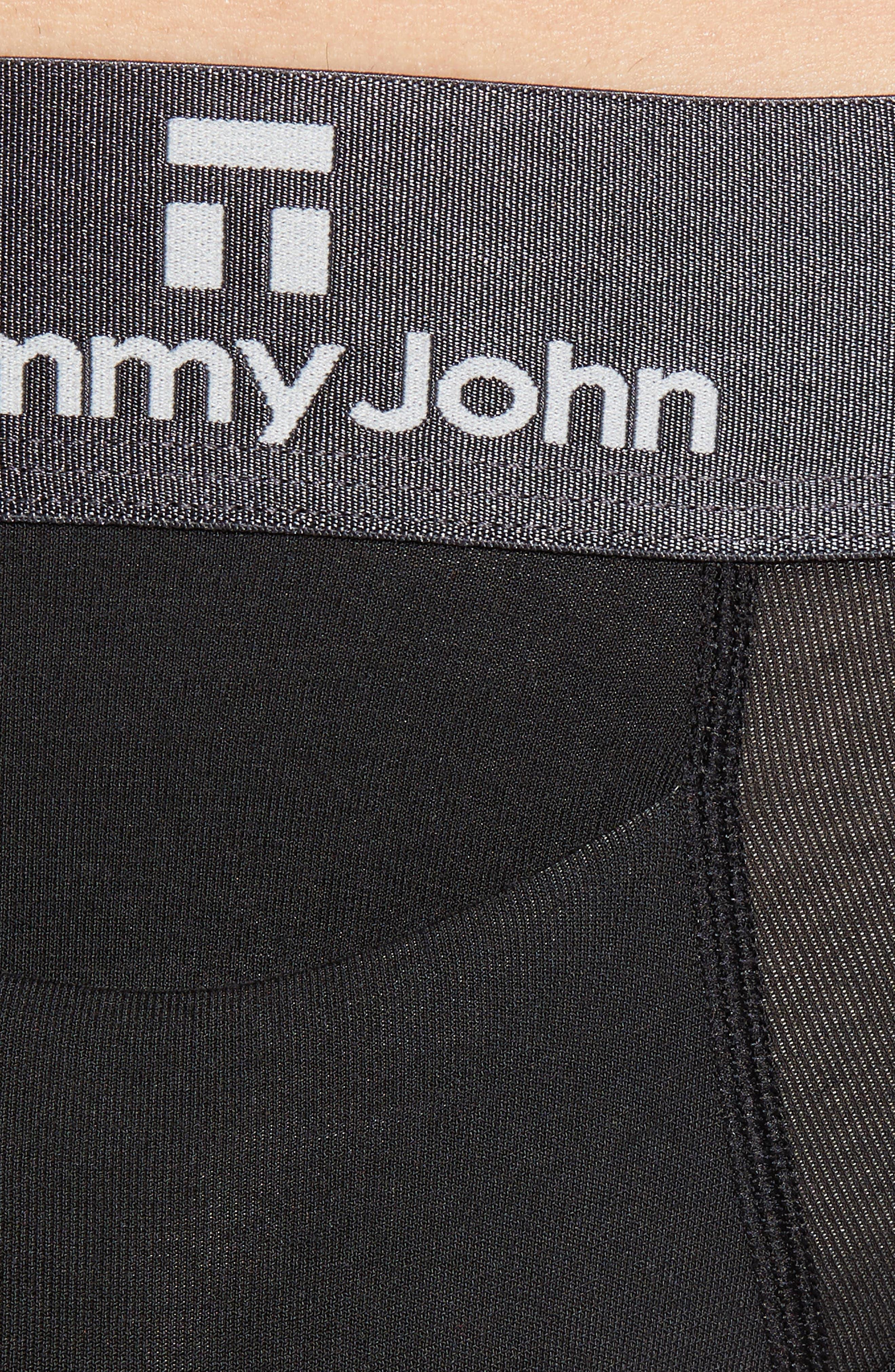 TOMMY JOHN, Second Skin Gunmetal Briefs, Alternate thumbnail 4, color, BLACK