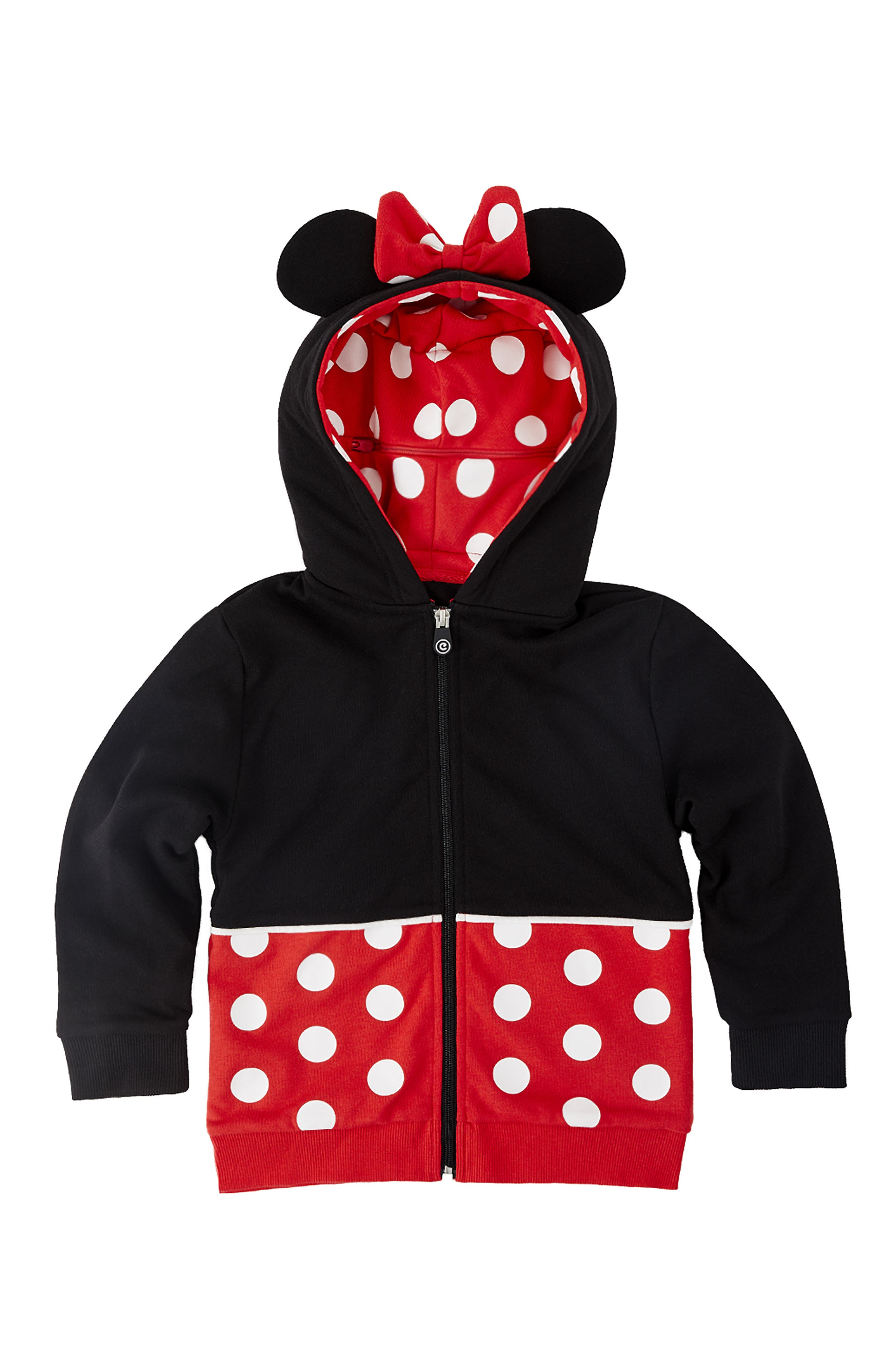 CUBCOATS, Disney Minnie Mouse 2-in-1 Stuffed Animal Hoodie, Alternate thumbnail 5, color, 001