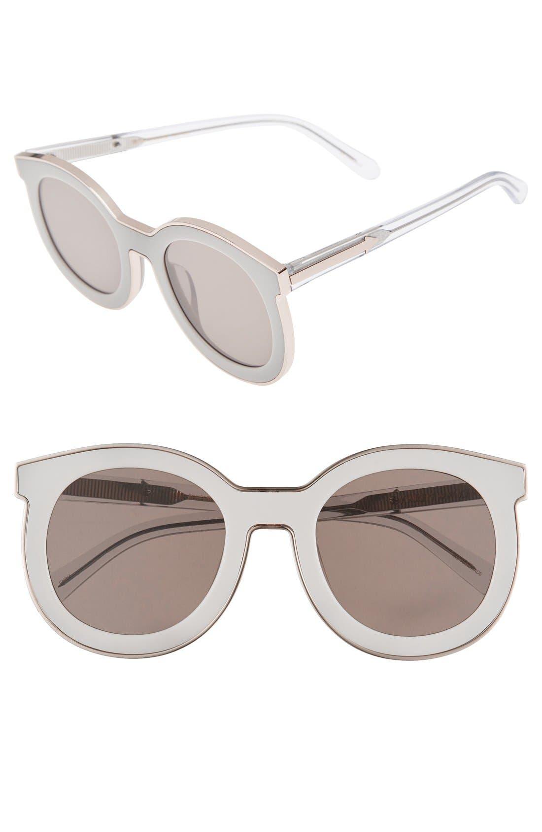 KAREN WALKER, 'Super Spaceship - Arrowed by Karen' 52mm Sunglasses, Main thumbnail 1, color, 100