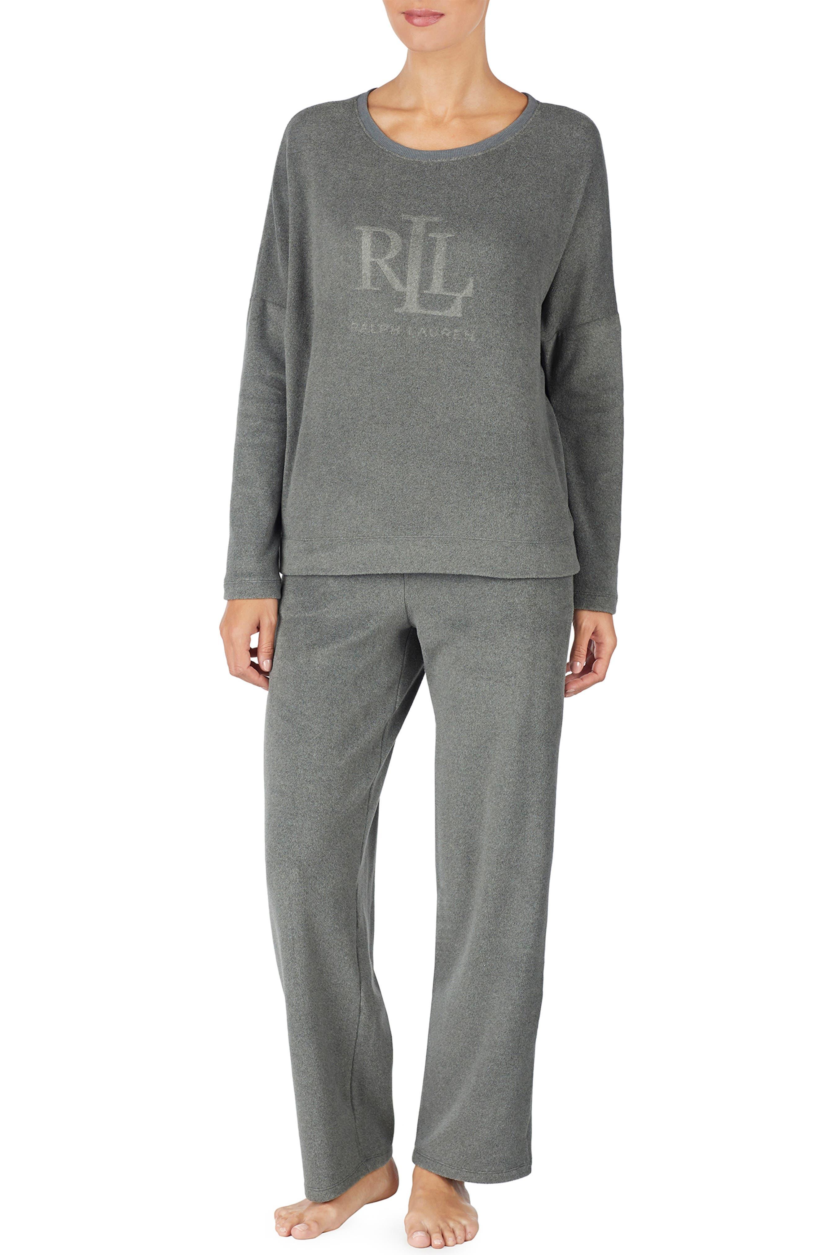 LAUREN RALPH LAUREN Logo Sweatshirt, Main, color, GREY