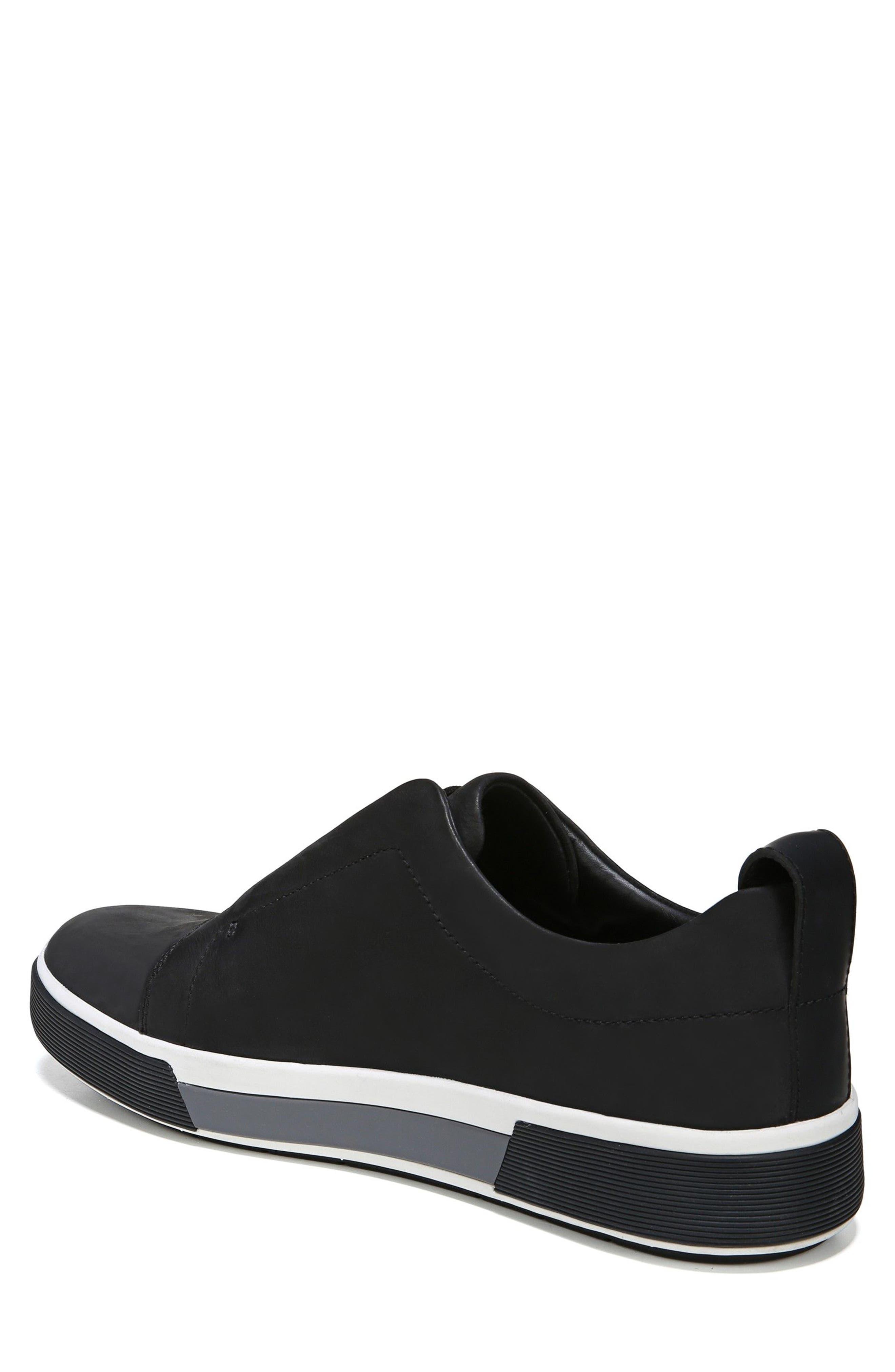VINCE, Ranger Laceless Sneaker, Alternate thumbnail 2, color, BLACK