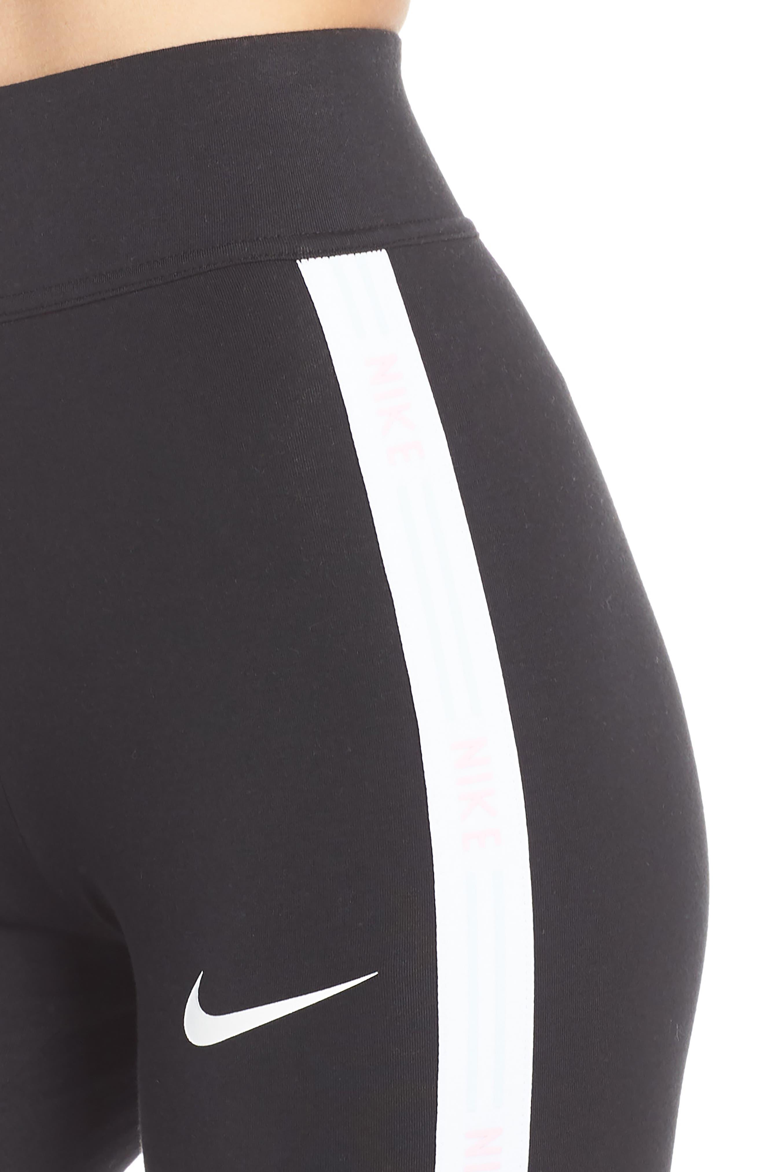 NIKE, Sportswear Leggings, Alternate thumbnail 5, color, 010