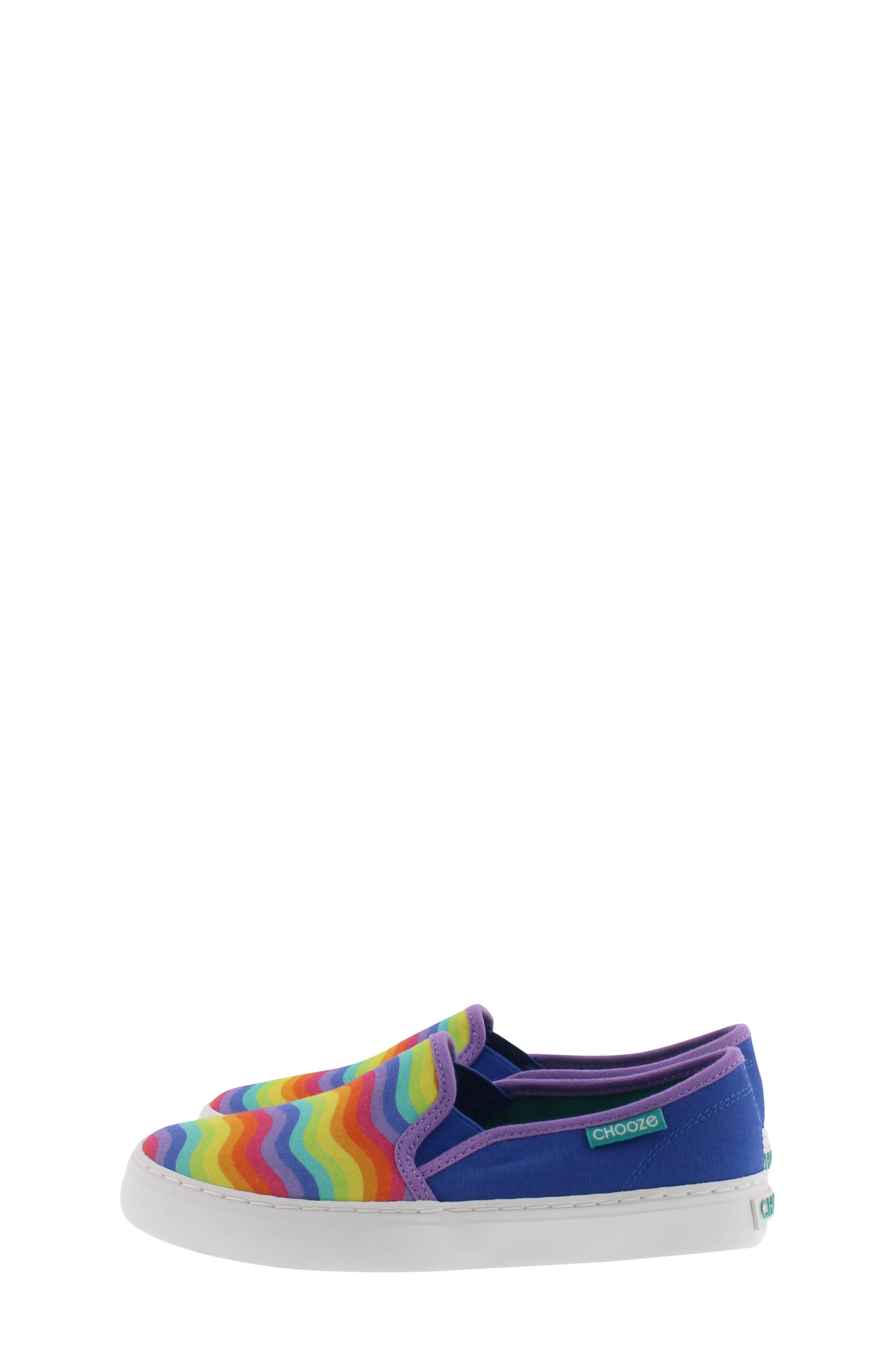 CHOOZE, Motion Slip-On Sneaker, Alternate thumbnail 3, color, BLUE MULTI