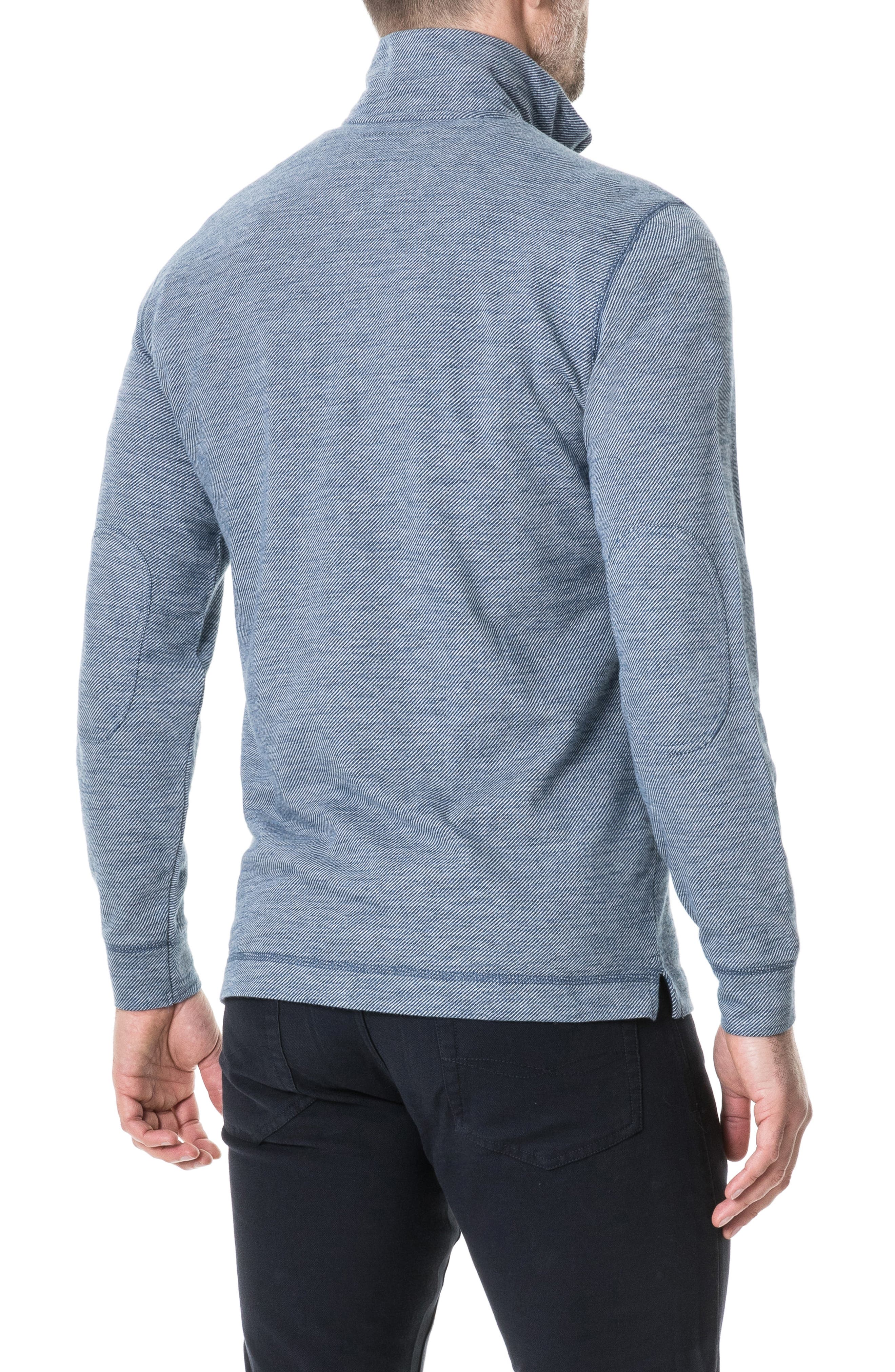 RODD & GUNN, Anvil Island Regular Fit Pullover, Alternate thumbnail 2, color, DENIM BLUE