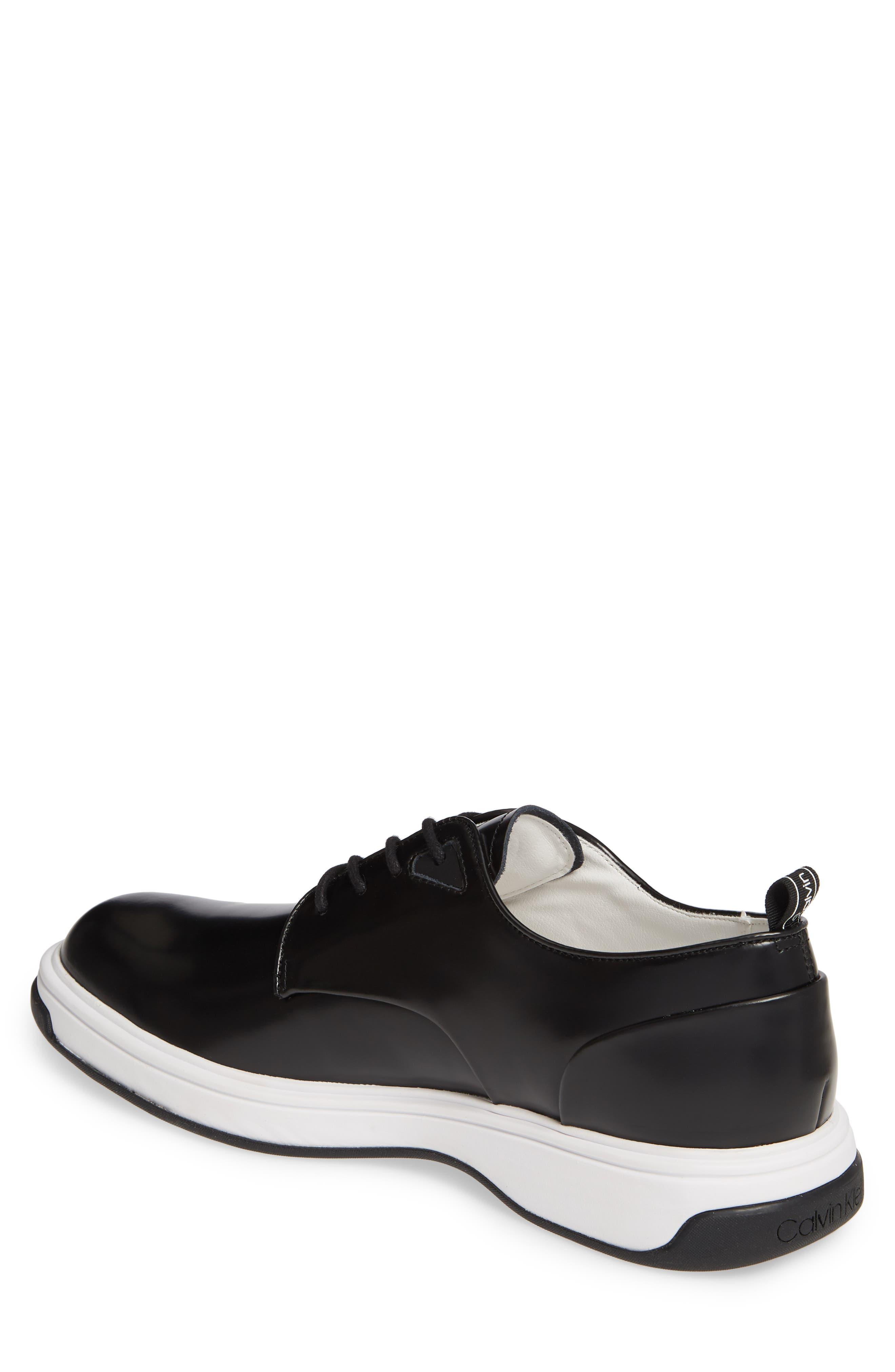 CALVIN KLEIN, Patsy Sneaker, Alternate thumbnail 2, color, BLACK