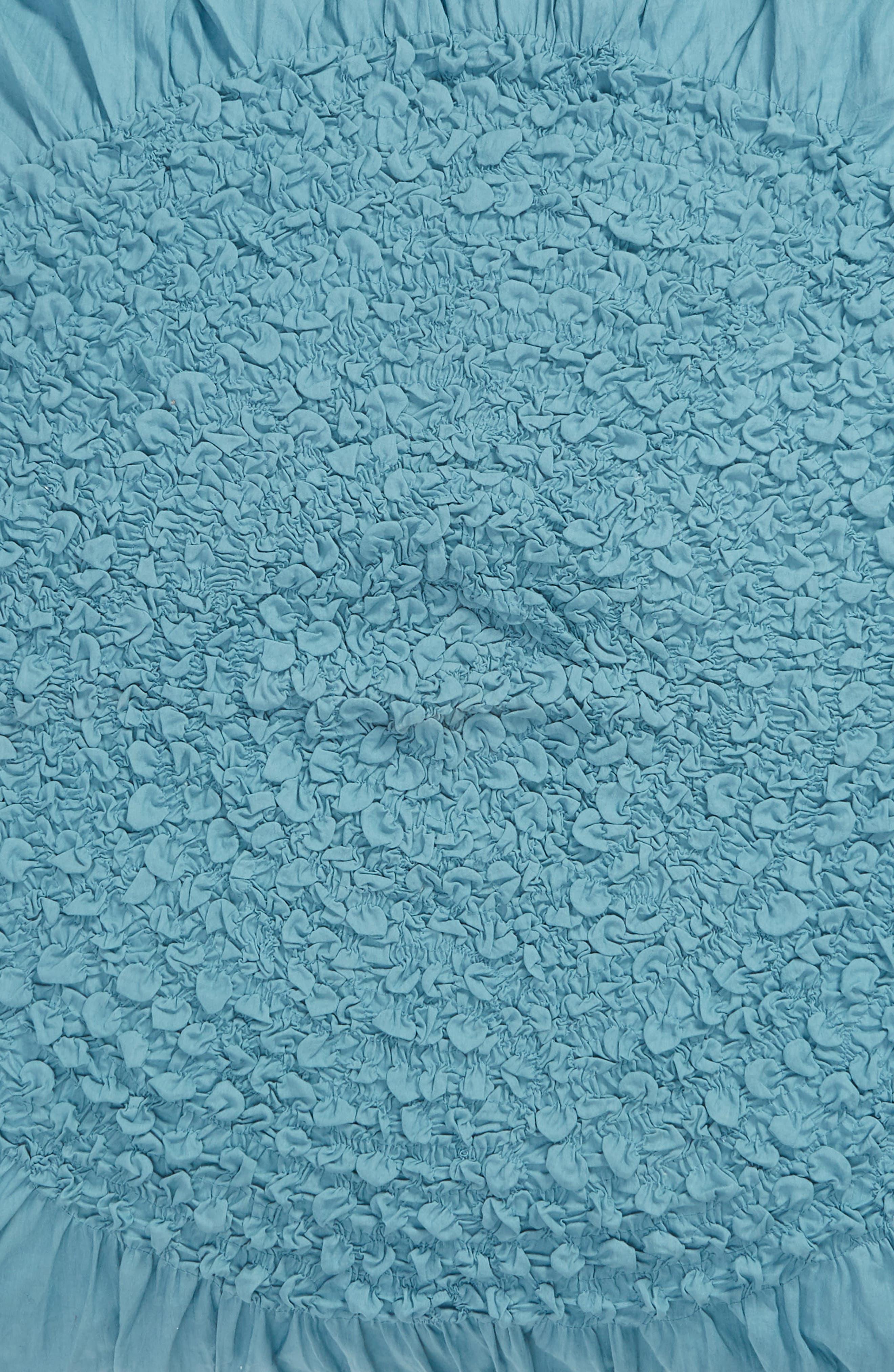 NORDSTROM AT HOME, 'Chloe' Euro Sham, Alternate thumbnail 3, color, BLUE ADRIATIC