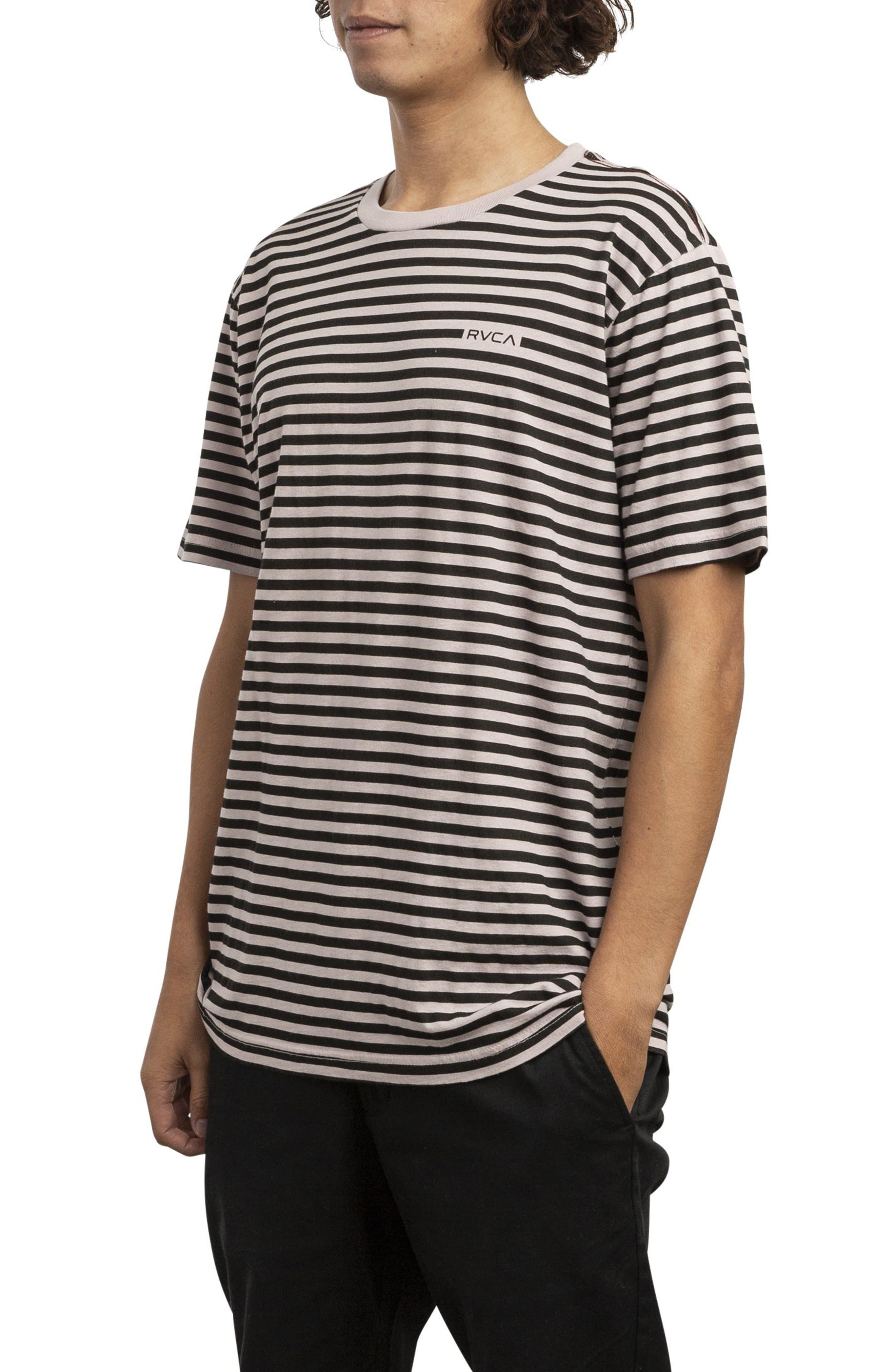 RVCA, House Stripe T-Shirt, Alternate thumbnail 3, color, DUSTY BLUSH