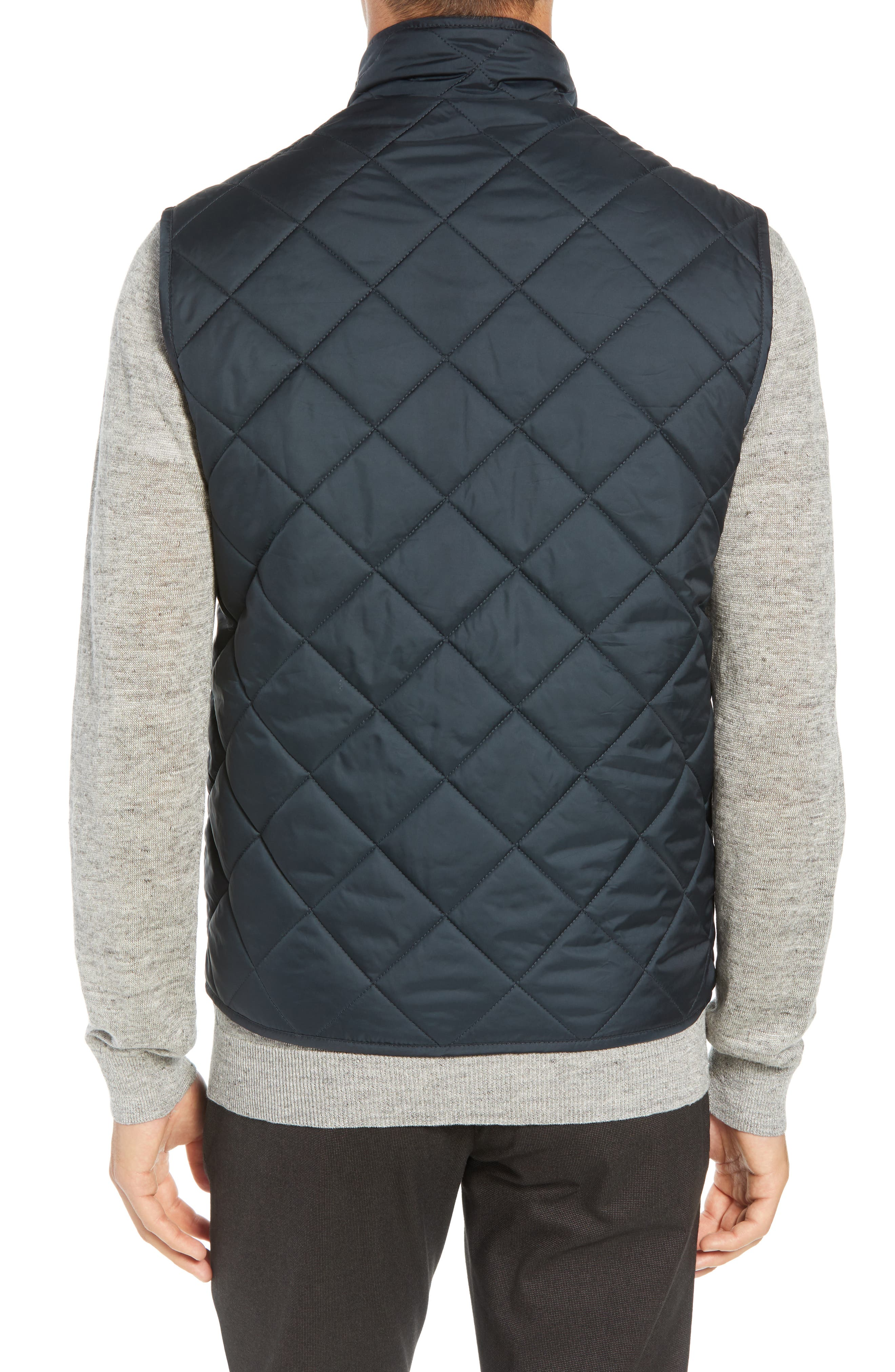 MARC NEW YORK, Chester Packable Quilted Vest, Alternate thumbnail 2, color, BLACK