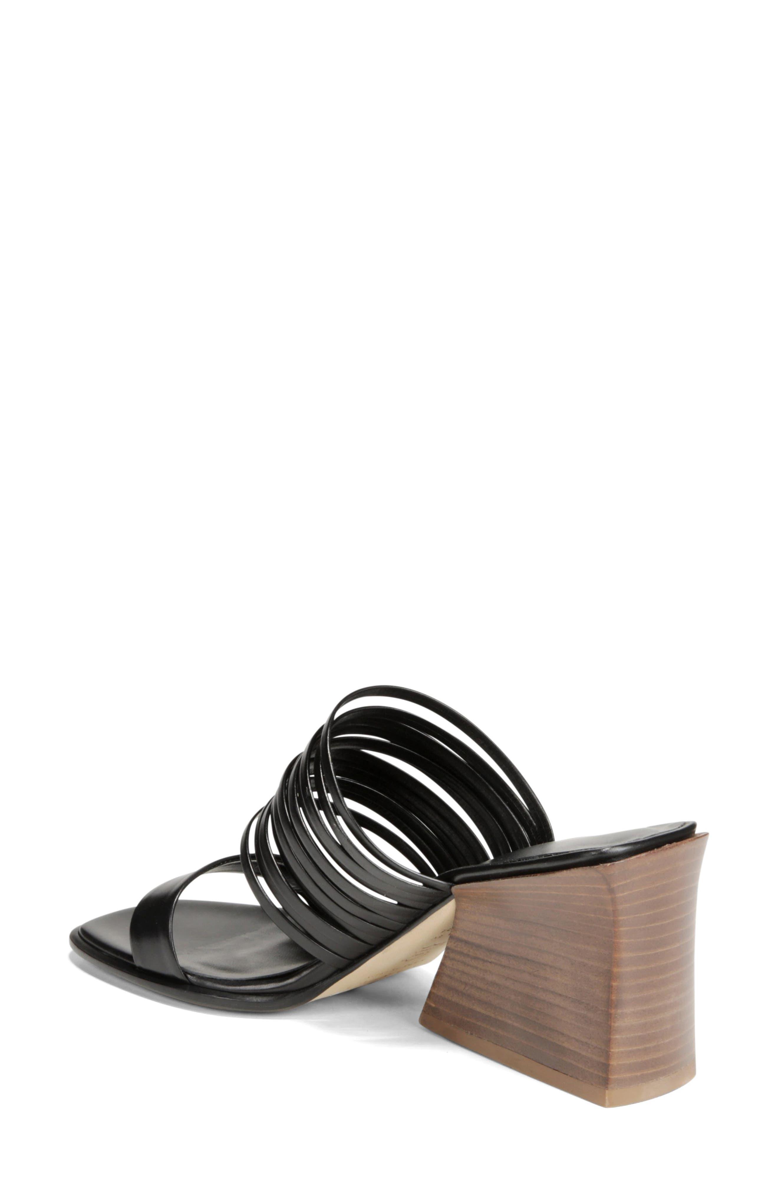 VIA SPIGA, Mariam Slide Sandal, Alternate thumbnail 2, color, BLACK
