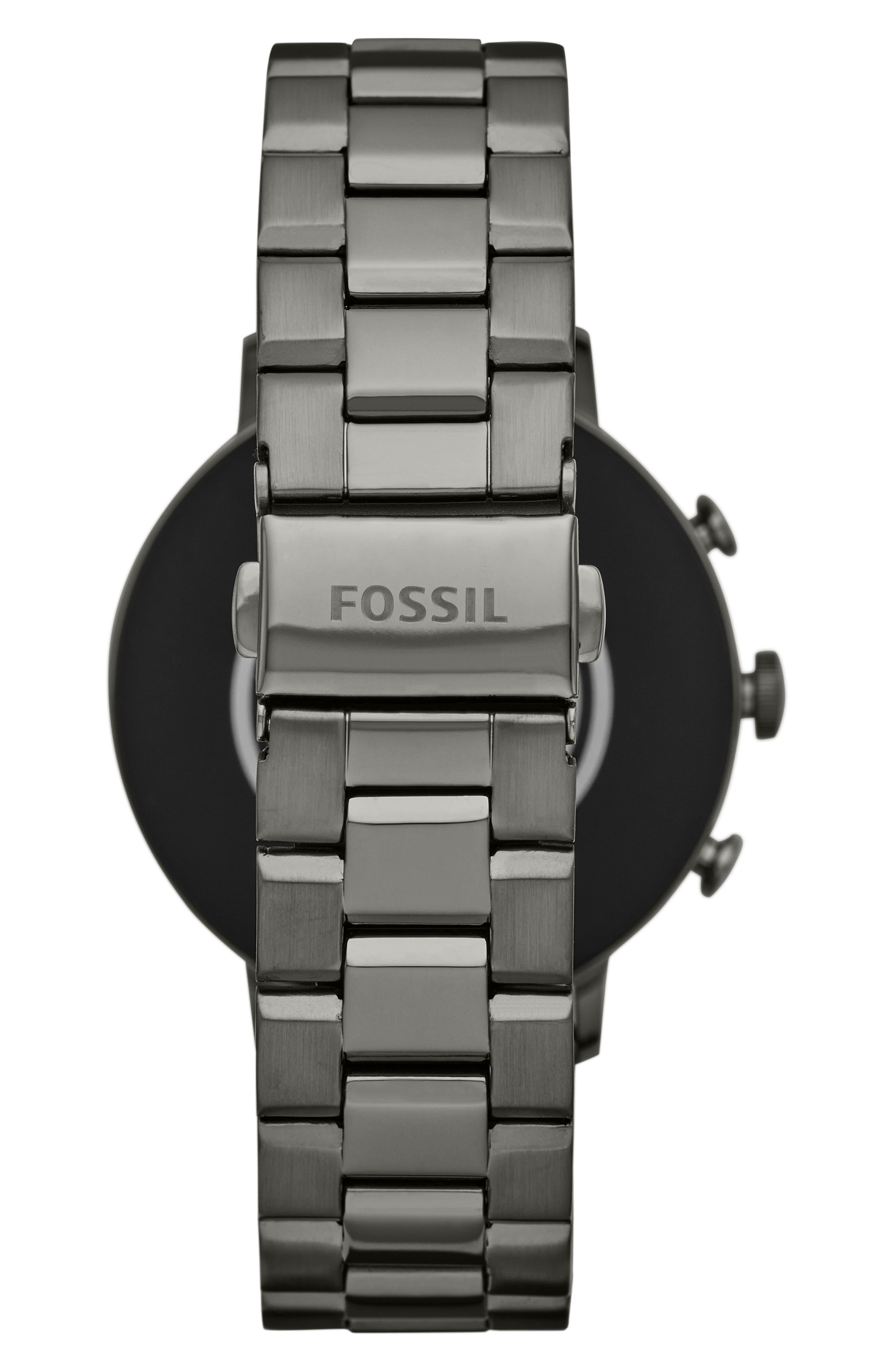 FOSSIL, Q Venture HR Bracelet Watch, 40mm, Alternate thumbnail 2, color, 020
