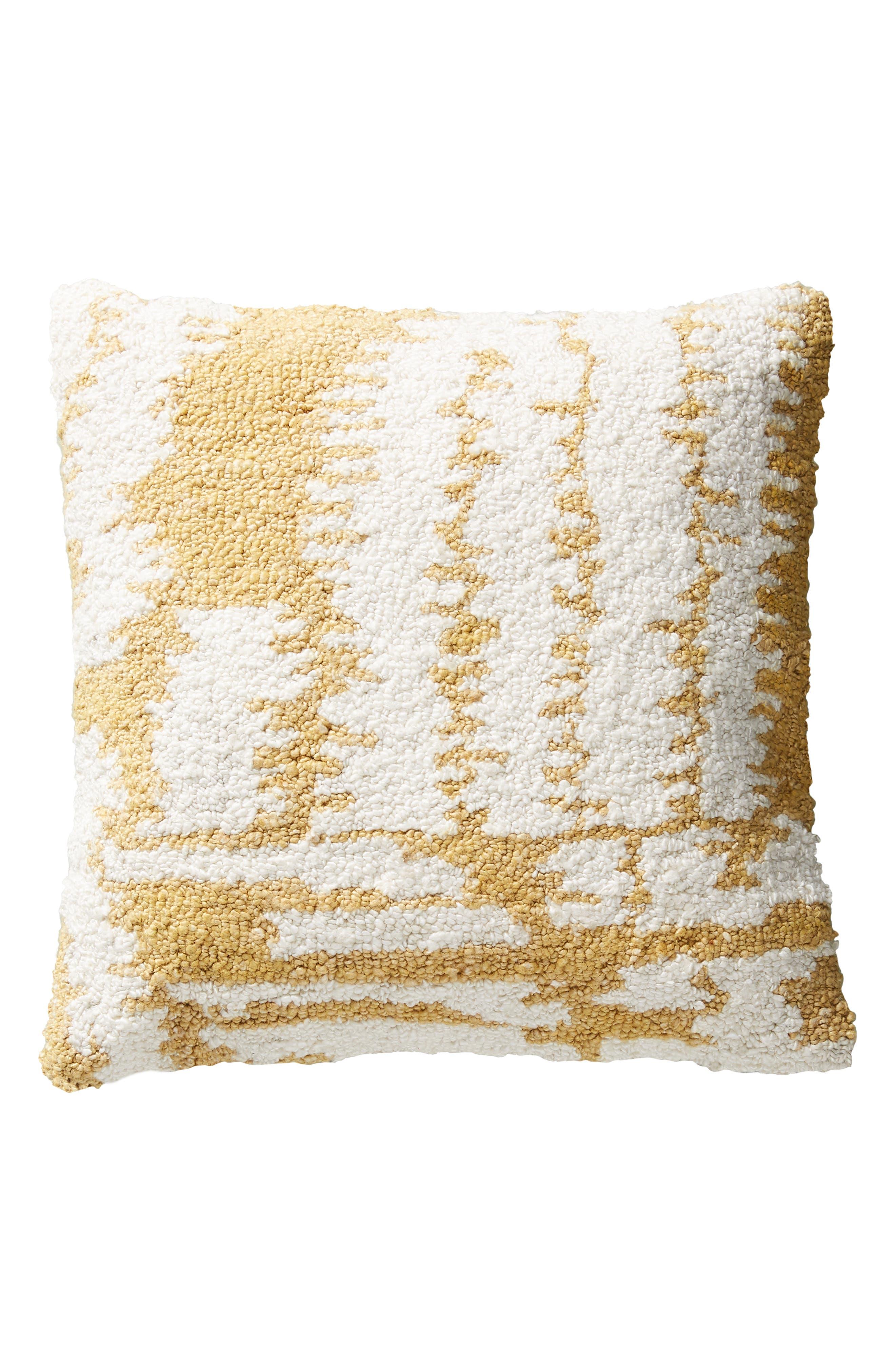 ANTHROPOLOGIE, Jordana Accent Pillow, Alternate thumbnail 4, color, 700