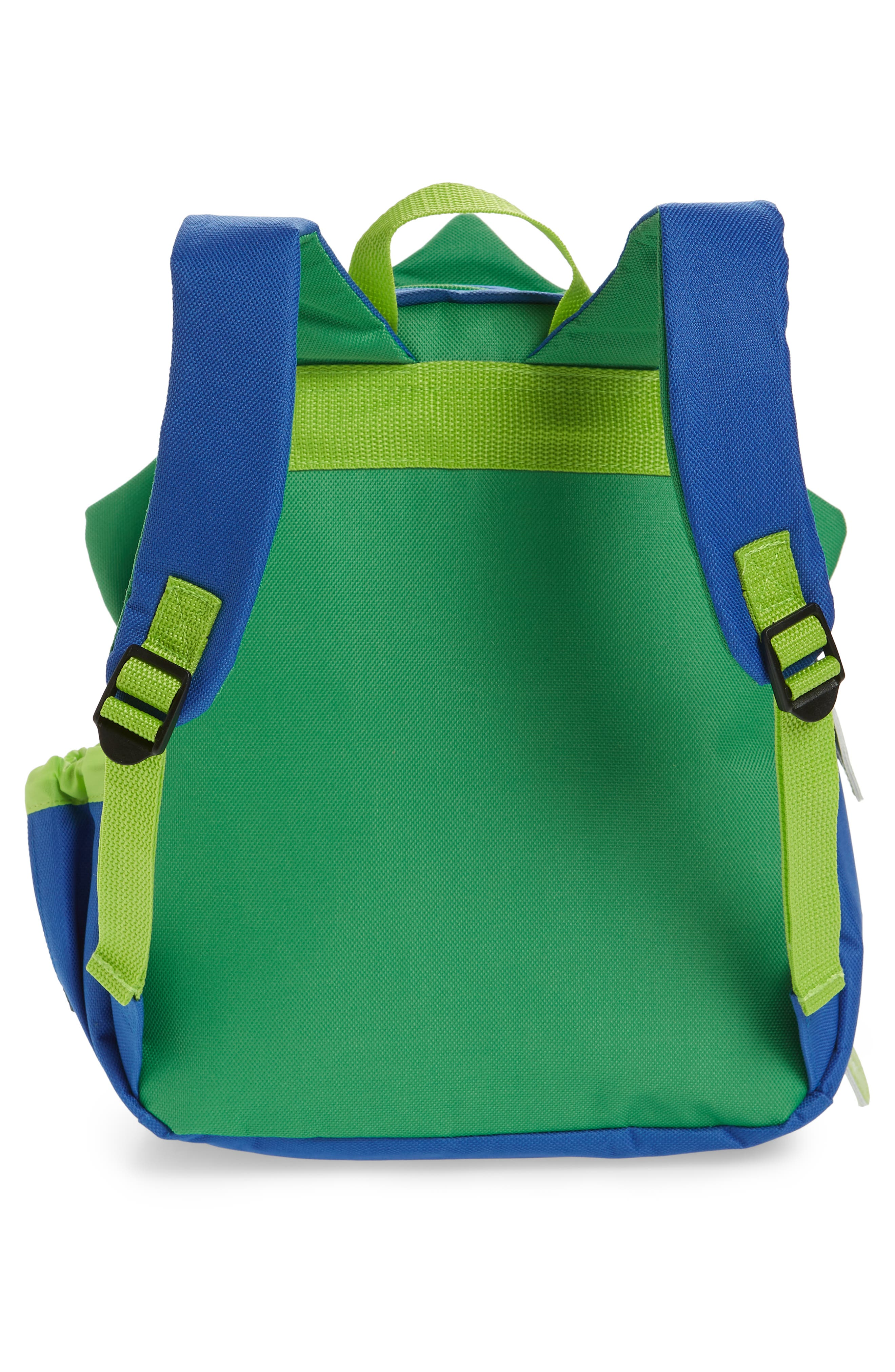 SKIP HOP, Zoo Pack Backpack, Alternate thumbnail 2, color, GREEN/ BLUE