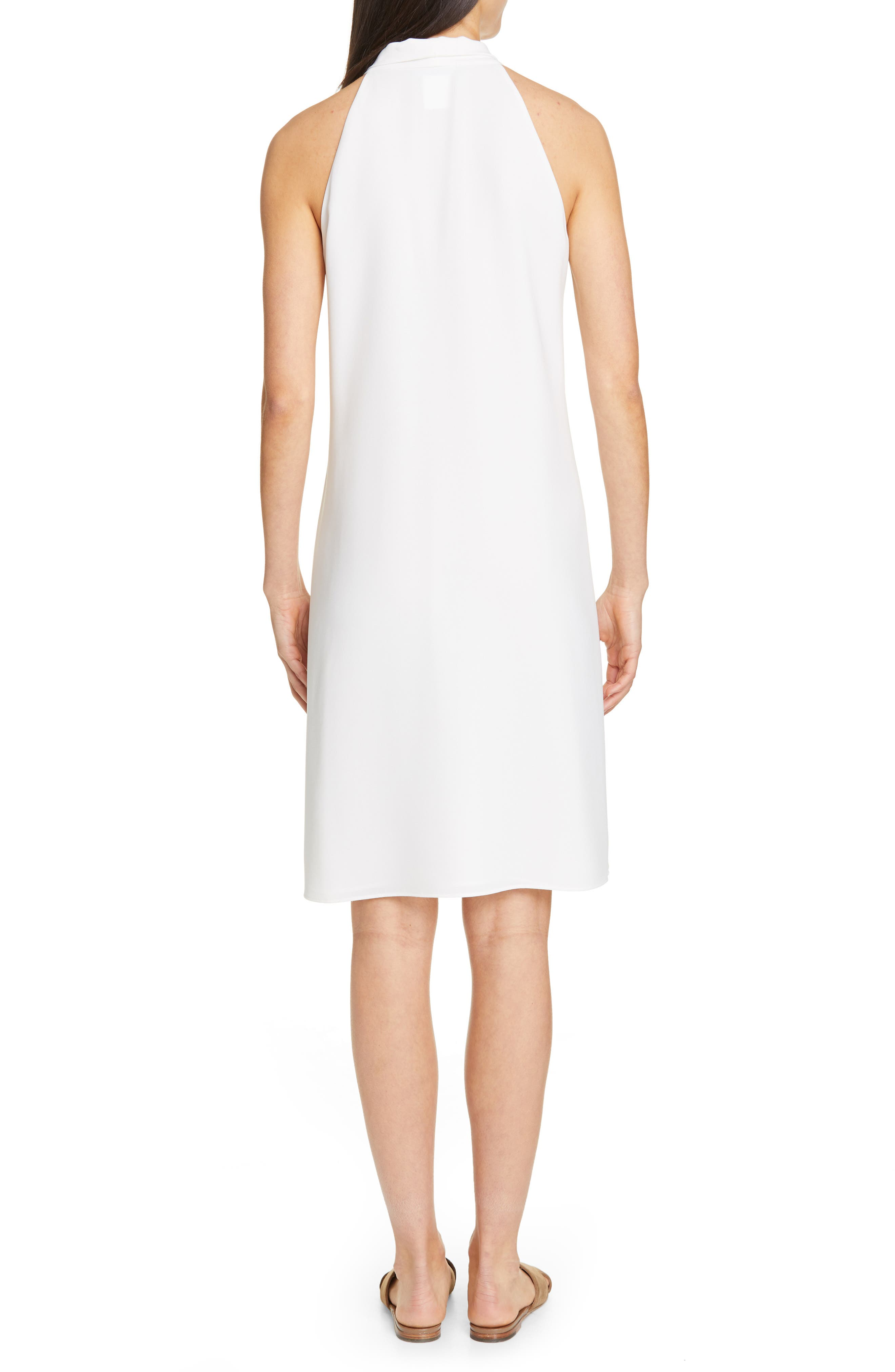 LAFAYETTE 148 NEW YORK, Amore Finesse Crepe Dress, Alternate thumbnail 2, color, CLOUD