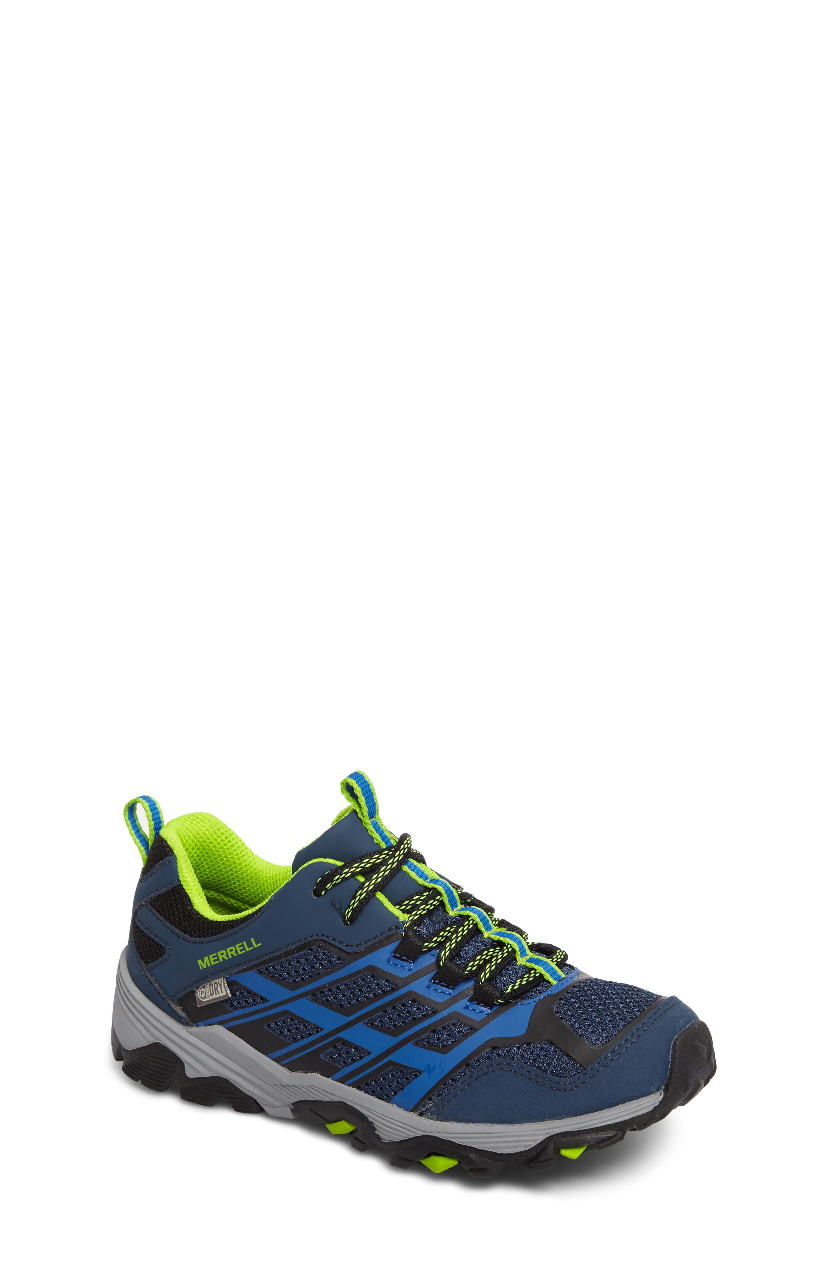 MERRELL, Moab FST Polar Low Waterproof Sneaker, Main thumbnail 1, color, NAVY/ BLUE