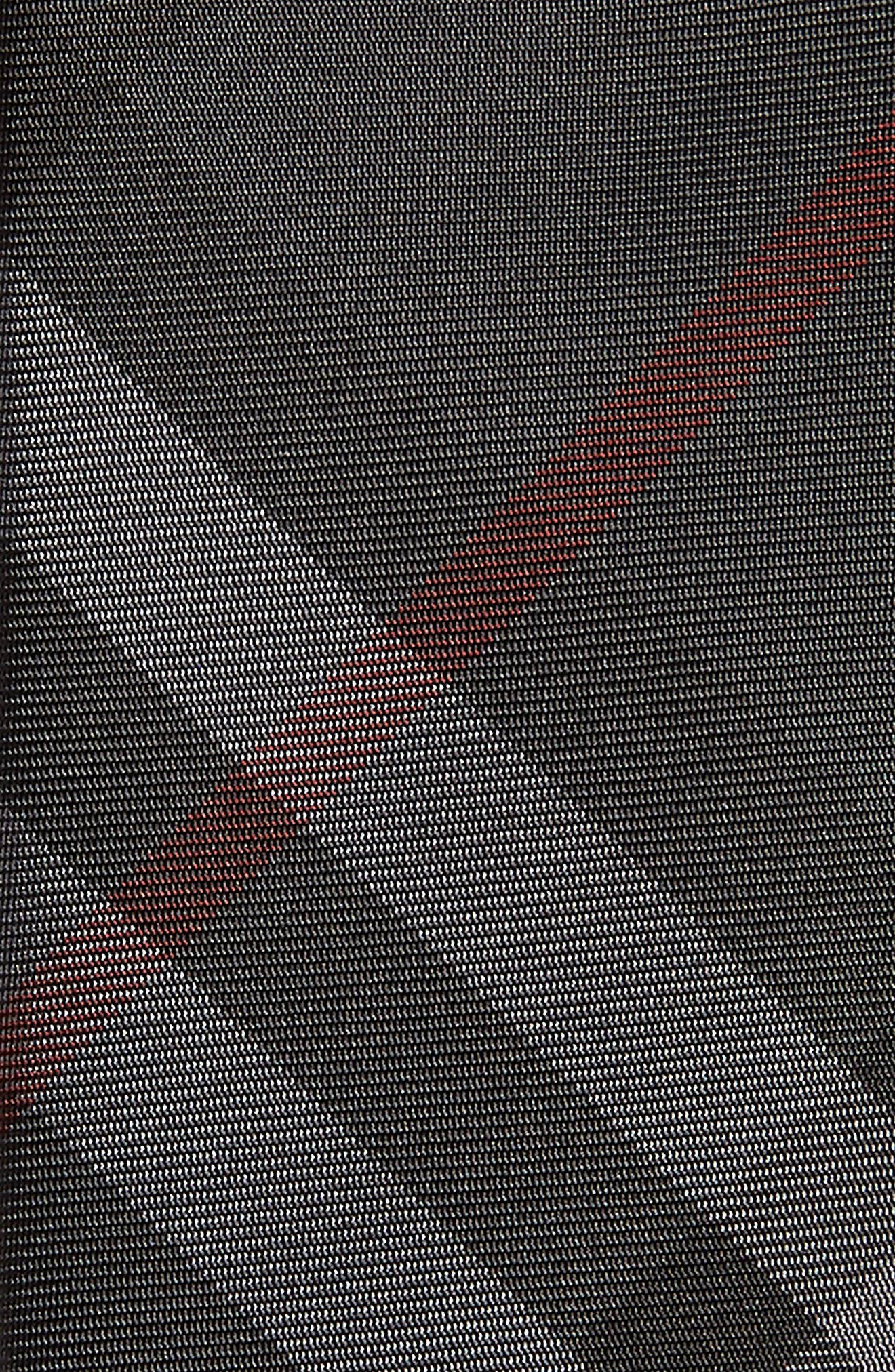 BURBERRY, Manston Check Silk Tie, Alternate thumbnail 2, color, 021