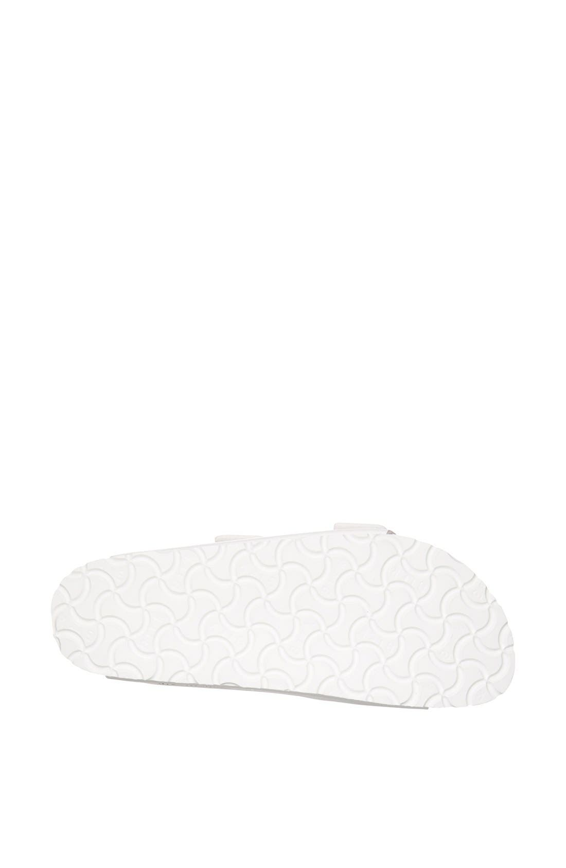 BIRKENSTOCK, 'Arizona' White Birko-Flor Sandal, Alternate thumbnail 7, color, WHITE SYNTHETIC LEATHER