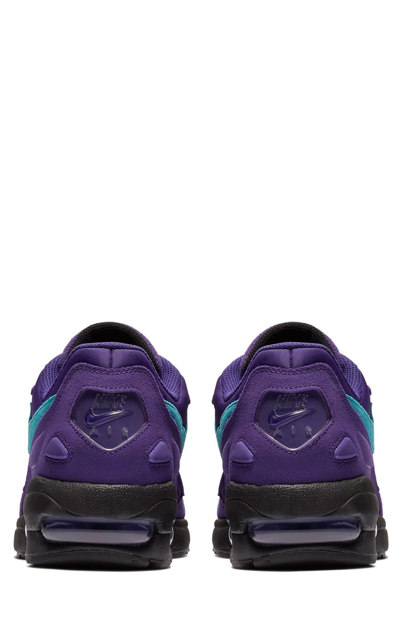 NIKE, Air Max2 Light Sneaker, Alternate thumbnail 2, color, PURPLE/ TEAL/ BLACK/ WHITE