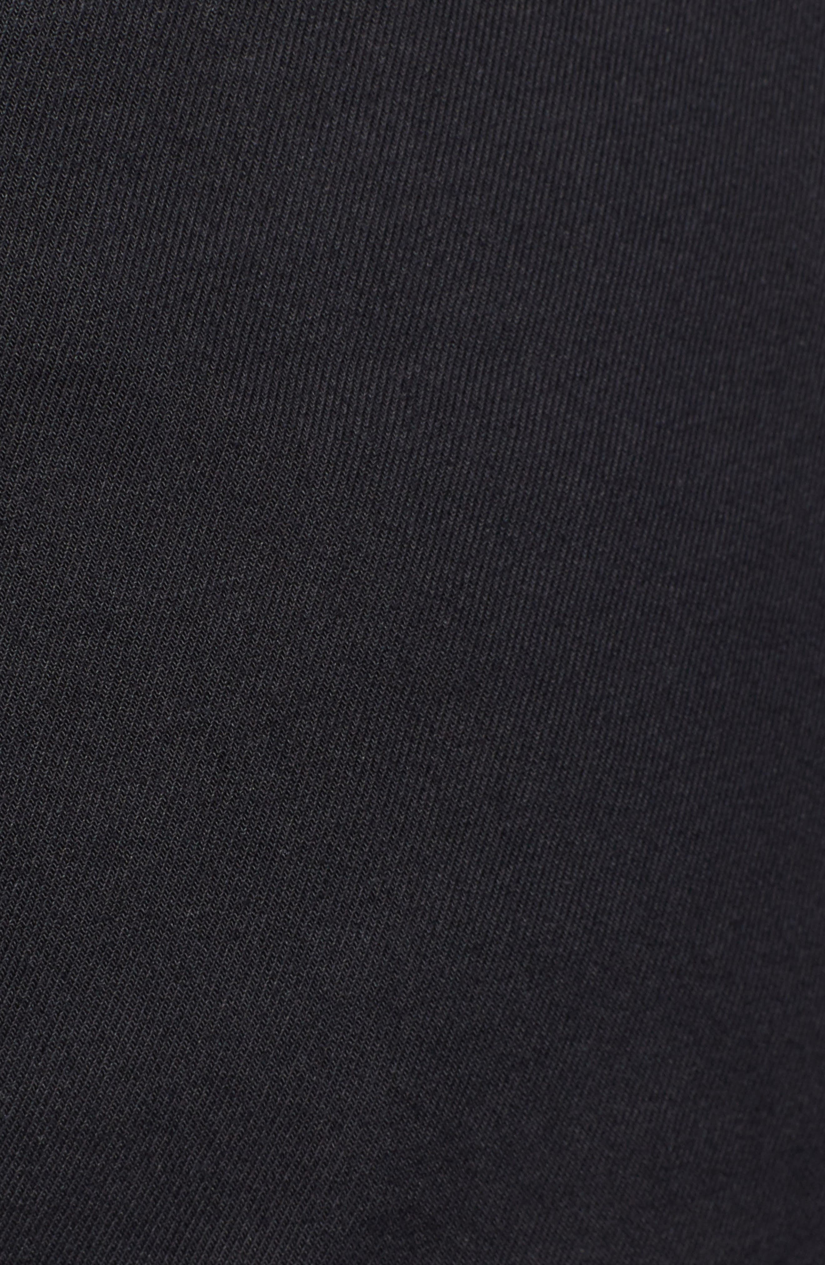 CASLON<SUP>®</SUP>, Belted Twill Shorts, Alternate thumbnail 5, color, BLACK
