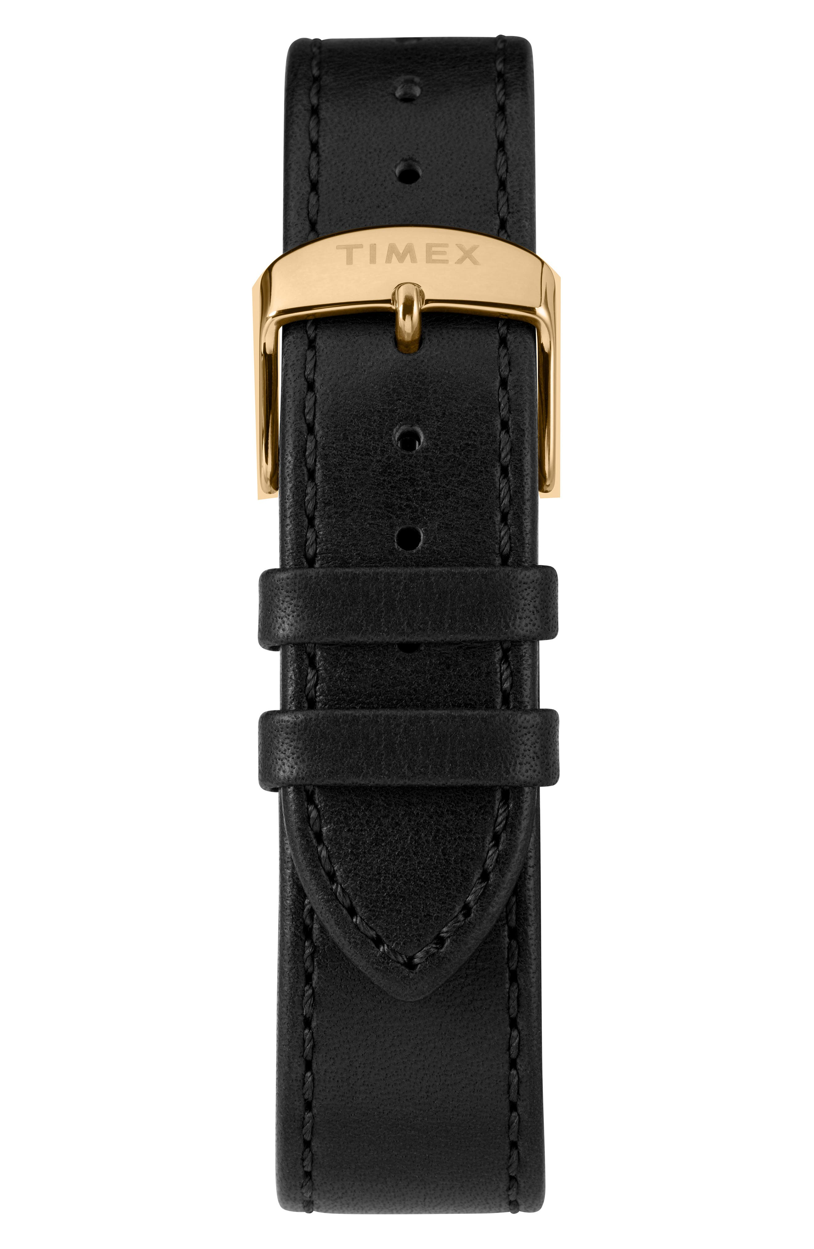 TIMEX<SUP>®</SUP>, Marlin Automatic Leather Strap Watch, 40mm, Alternate thumbnail 4, color, SILVER/ BLACK/ BLACK