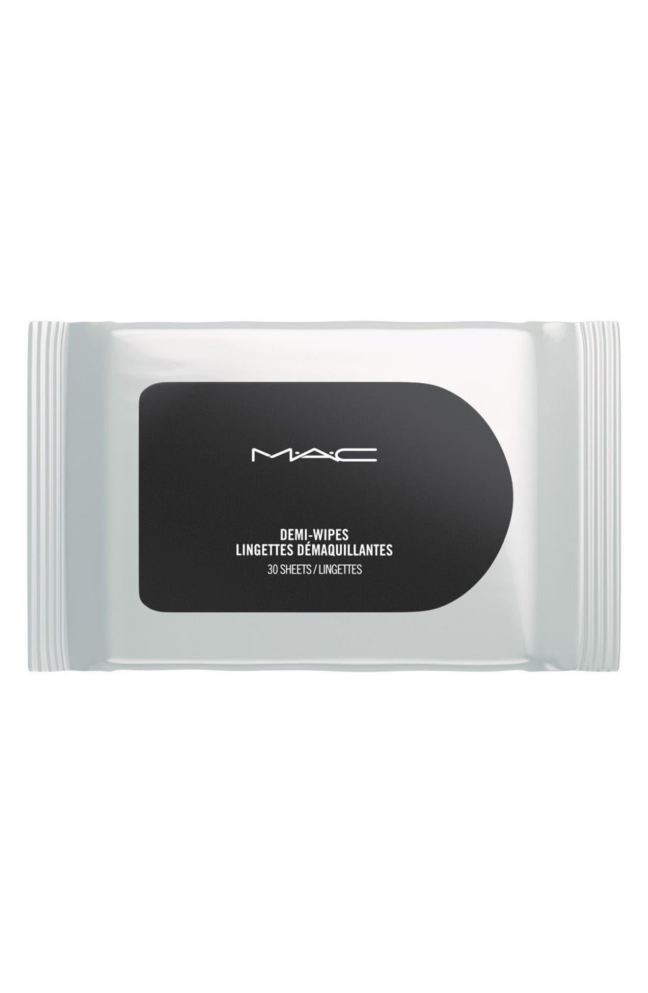 MAC COSMETICS, MAC Mini MAC Demi Wipes Cleansing Towelettes, Alternate thumbnail 2, color, NO COLOR