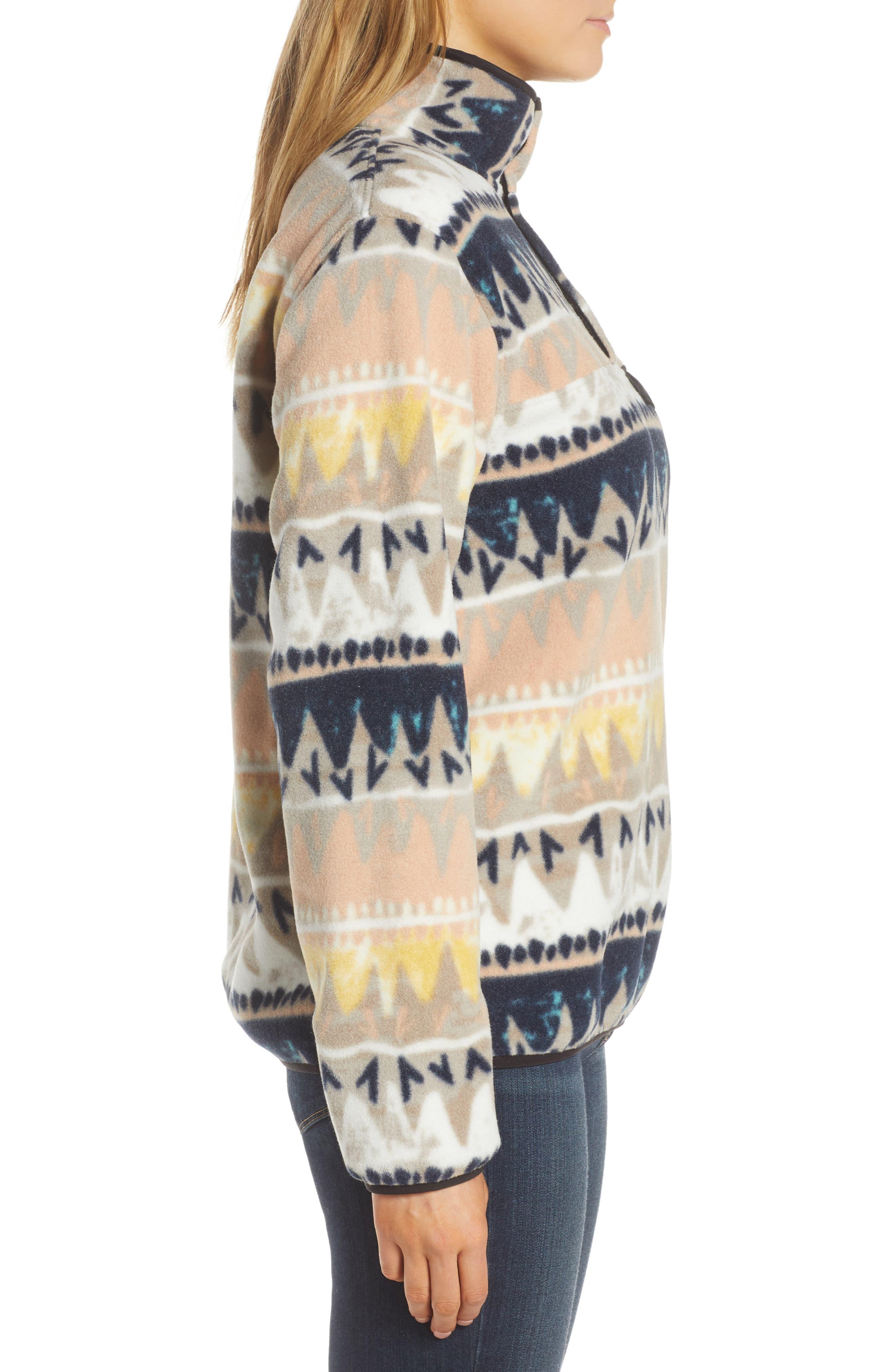 PATAGONIA, Synchilla Snap-T<sup>®</sup> Fleece Pullover, Alternate thumbnail 4, color, BANDICOOT/ MARROW GREY