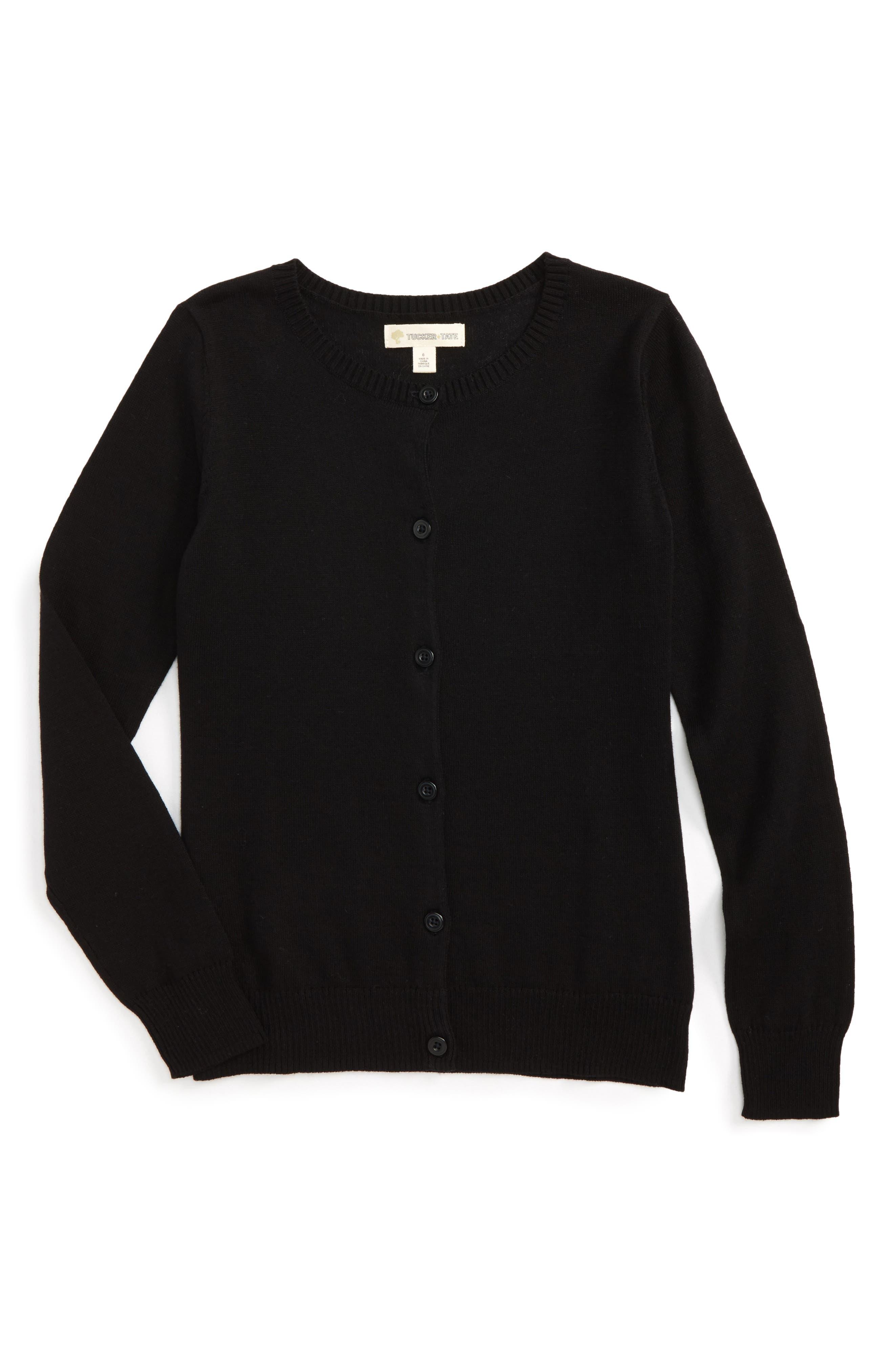 Girls Tucker  Tate Jane Cotton Cardigan Size 5  Black